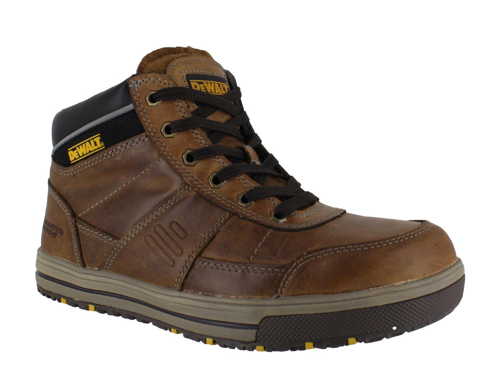 Mens DeWalt Radial Steel Toe SBP Safety Dealer Slip On Work Boots Sizes 6 to 12