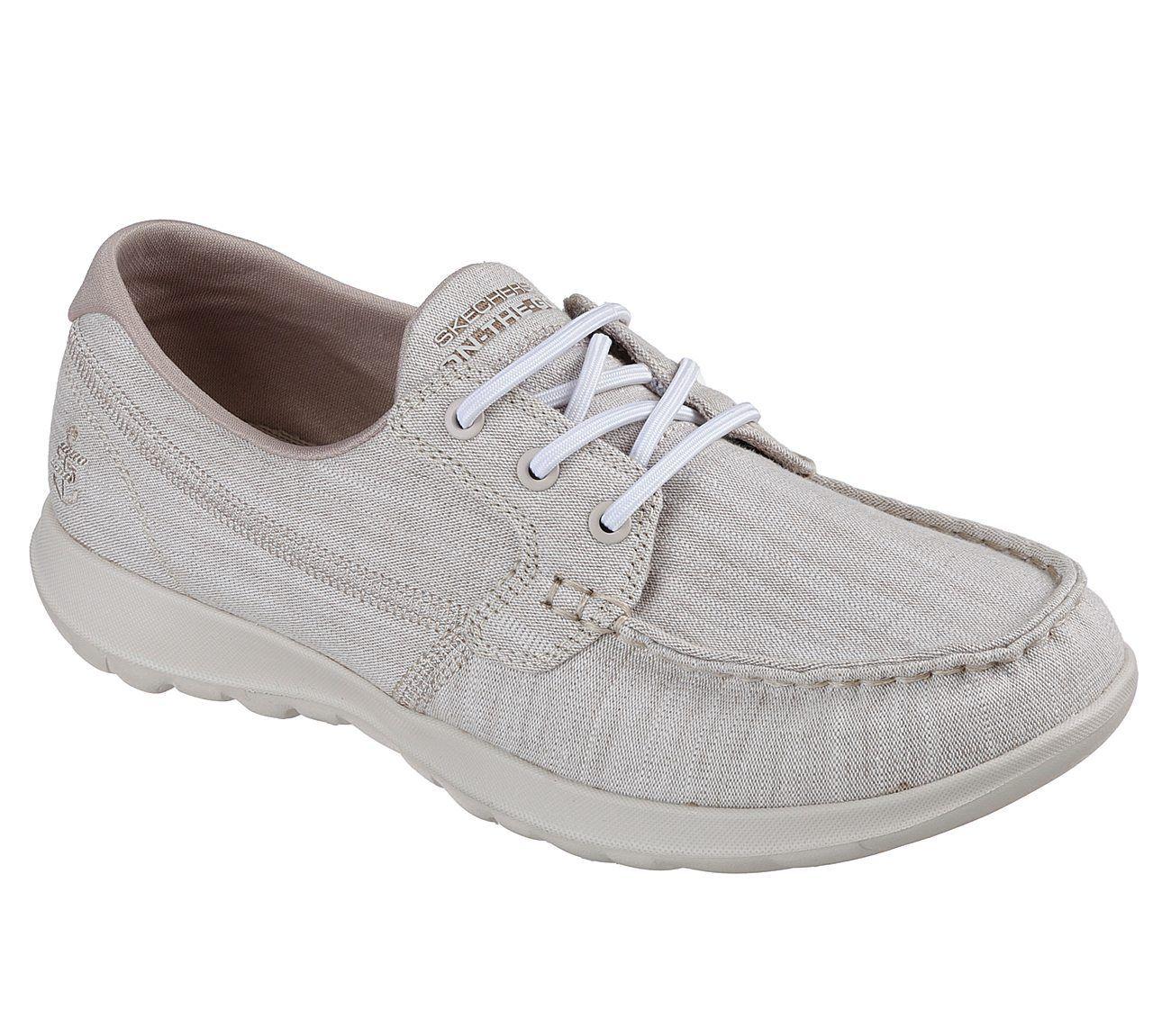 SKECHERS gowalk lite-isla femmes taupe lacet Chaussures bateau baskets