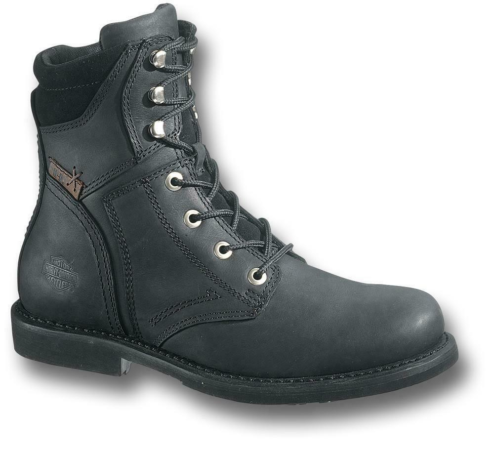 a77724bf35c Details about Mens Harley Davidson Darnel Leather Military Zip Up Ankle  Boots Sizes 6 11 12