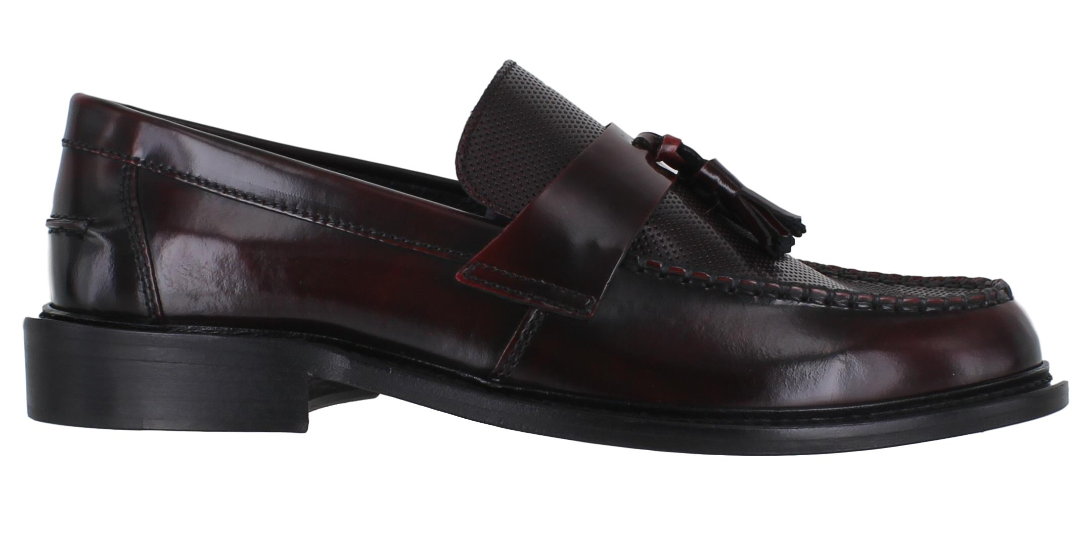 95906d45533 Details about Mens Delicious Junction Ace Punch Leather MOD SKA Tassel  Loafer Sizes 6 to 12