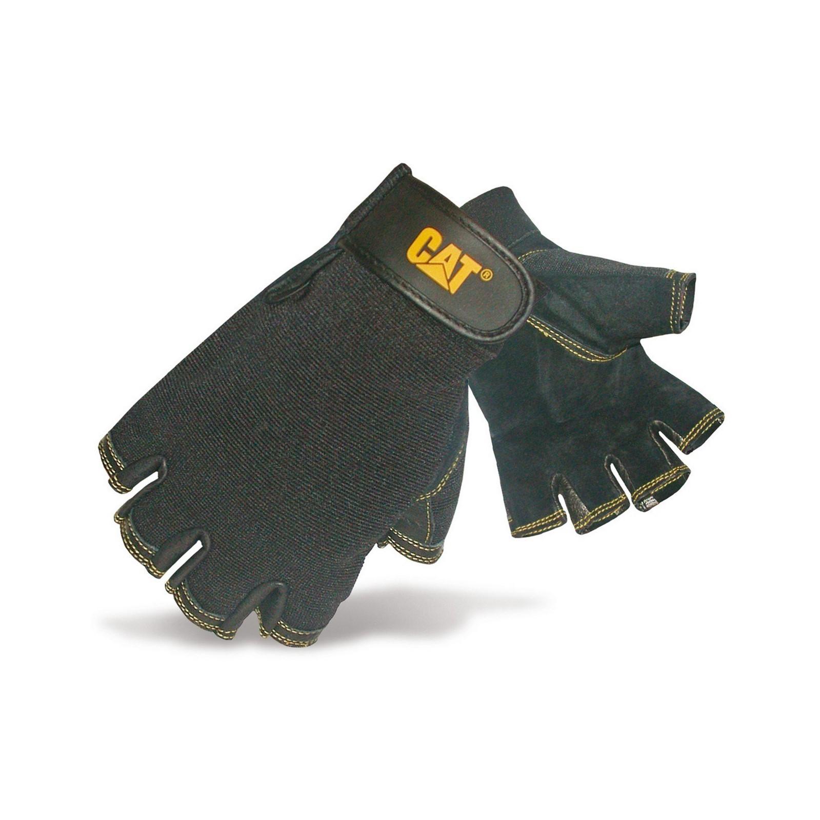 Guantes de pie de cerdo medios dedos Modelo 12202 Reversed hombre caballero Caterpillar