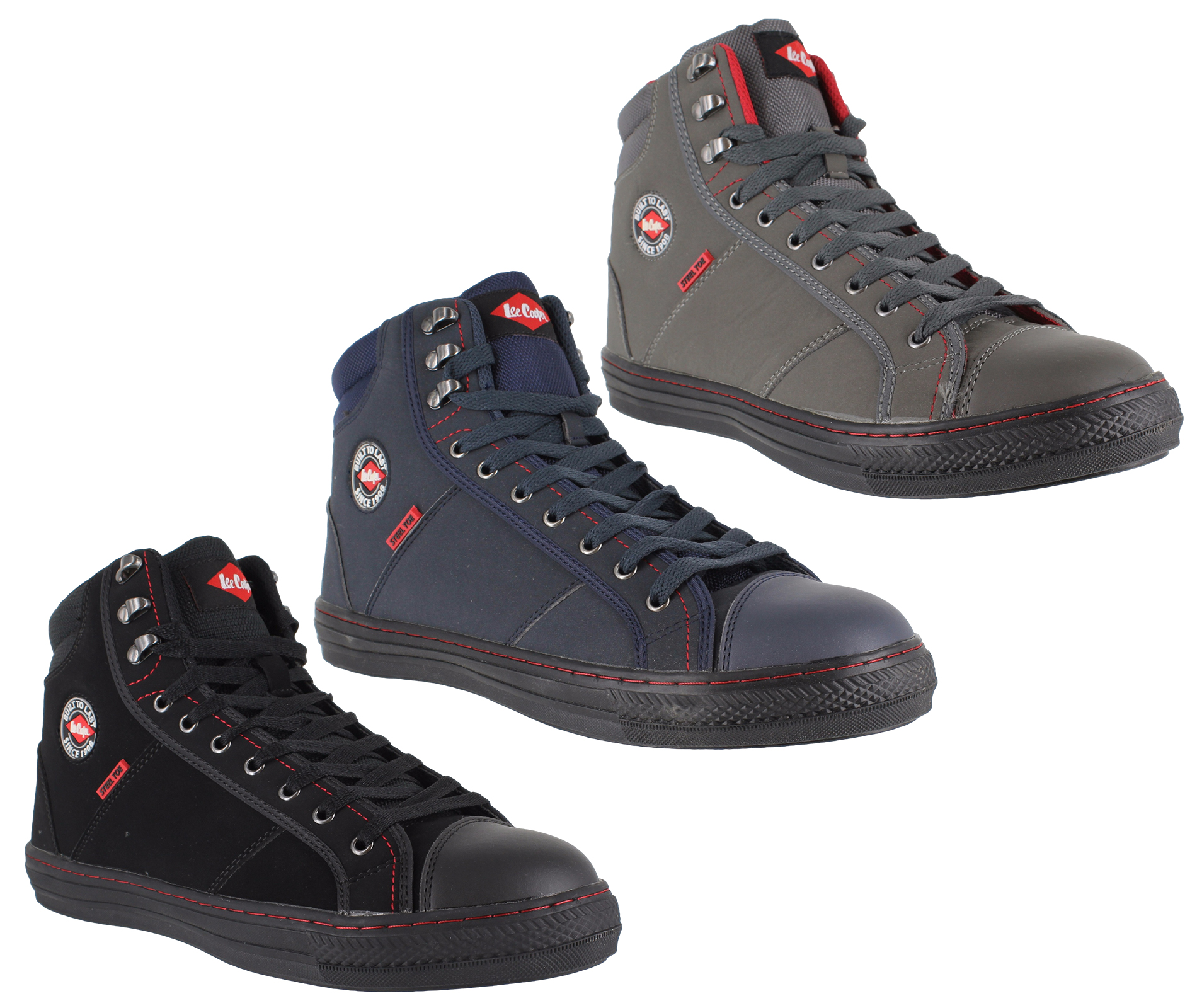 2eb401e37 Details about Mens Womens Lee Cooper Steel Toe SB Safety Baseball Boots  High Top Sizes 3 to 12