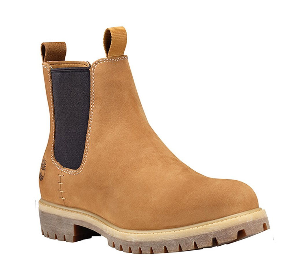 Details about Timberland Mens Honey ICON 6 inch Pull On Nubuck Leather Chelsea Boots A1OV9
