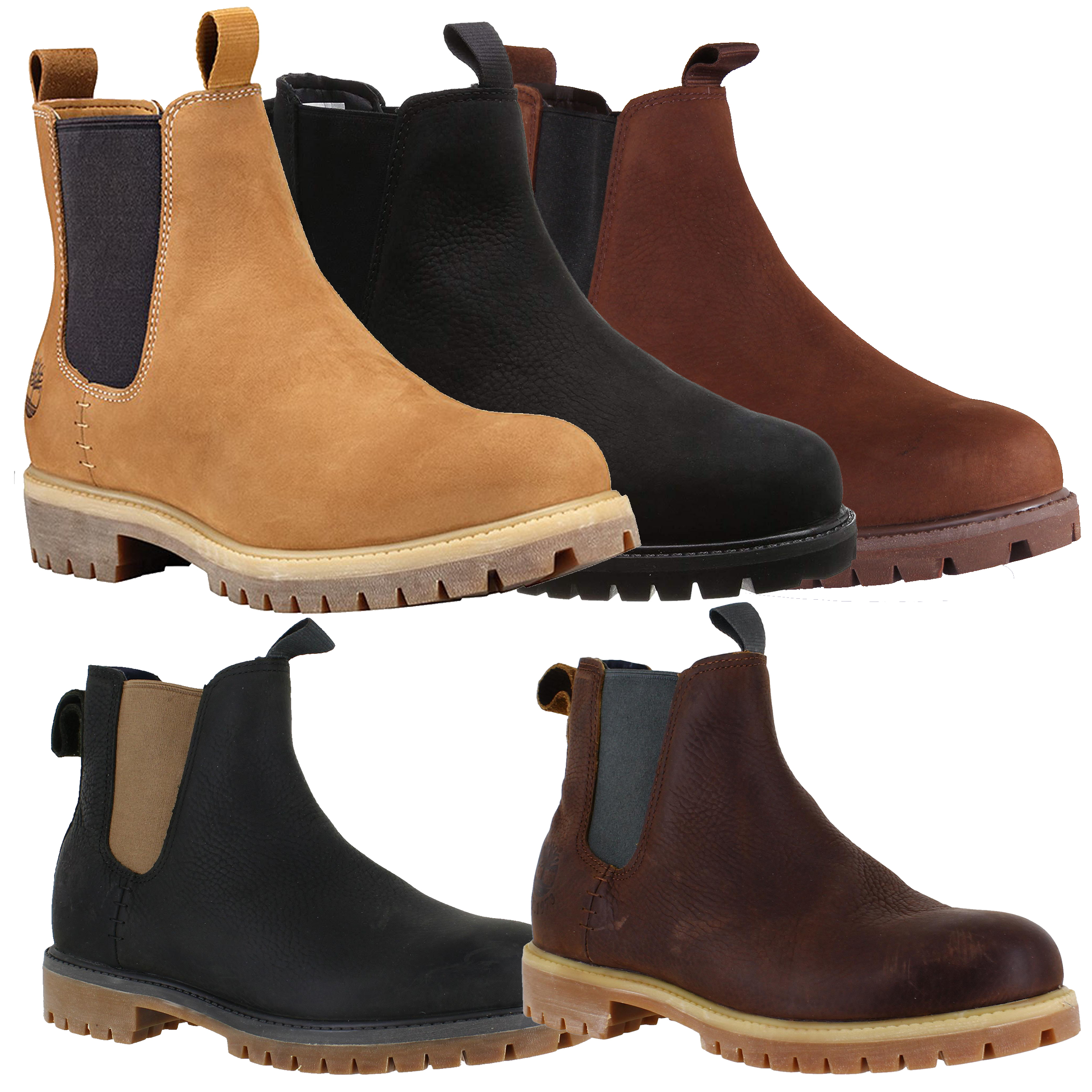 super especiales 2019 auténtico última tecnología Mens Timberland 6-inch Pull On Nubuck Leather Chelsea Boots Sizes ...