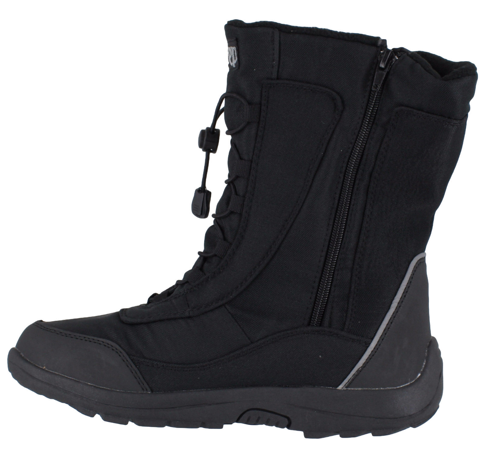 Freestep Womens Snow Winter Fully Water-Resistant Black