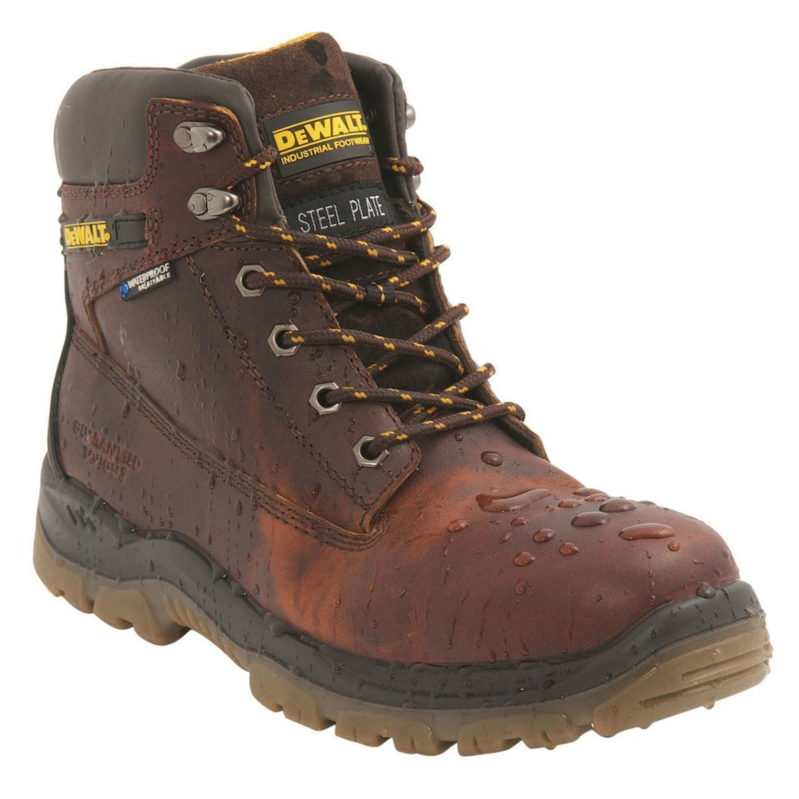 DeWalt Titanium Mens Brown Leather S3 WR Safety Steel Toe Lace Up Boots 7ec0c26d0c