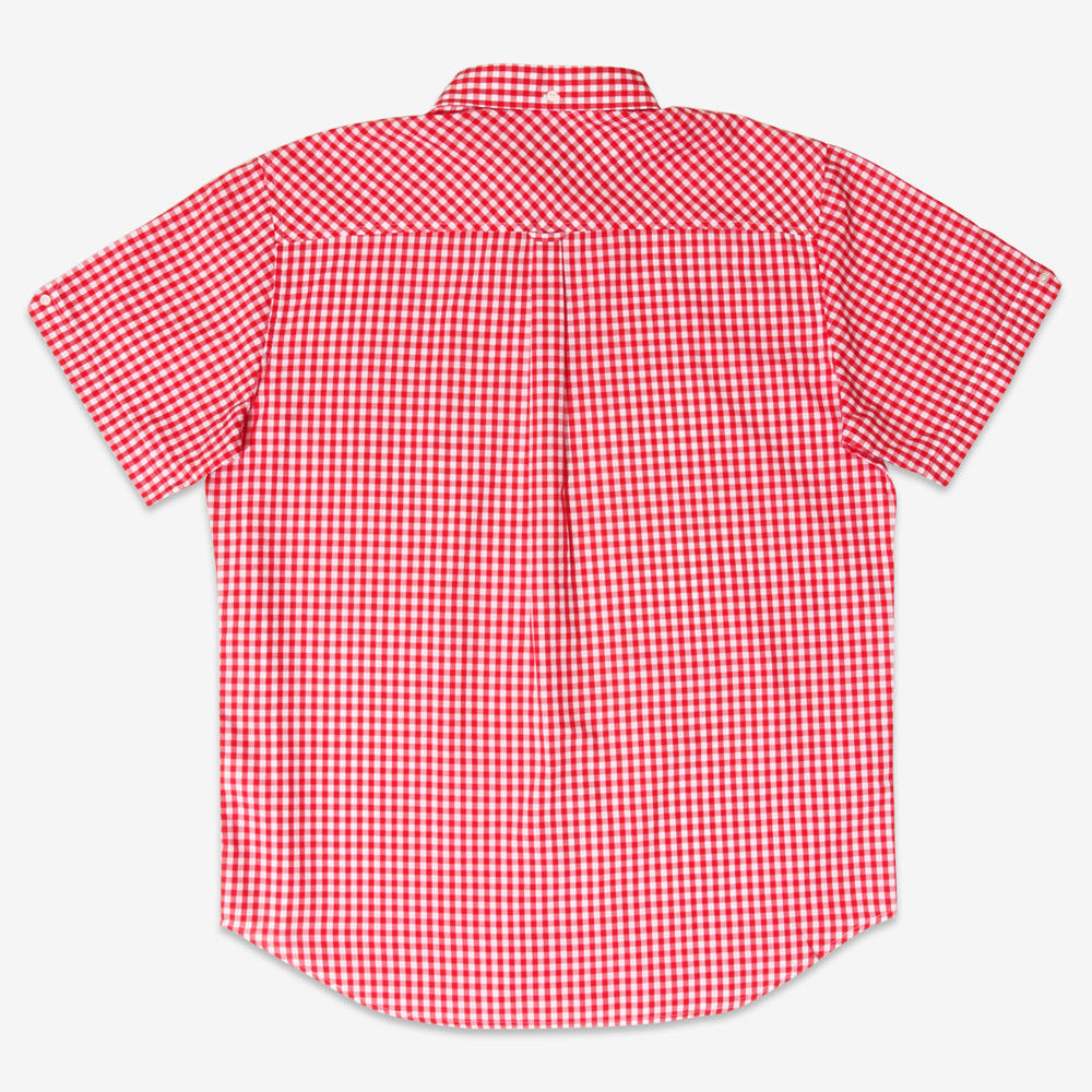 Mens BRUTUS Gingham//Check Short Sleeve MOD SKA Retro Shirts Sizes S to 2XL