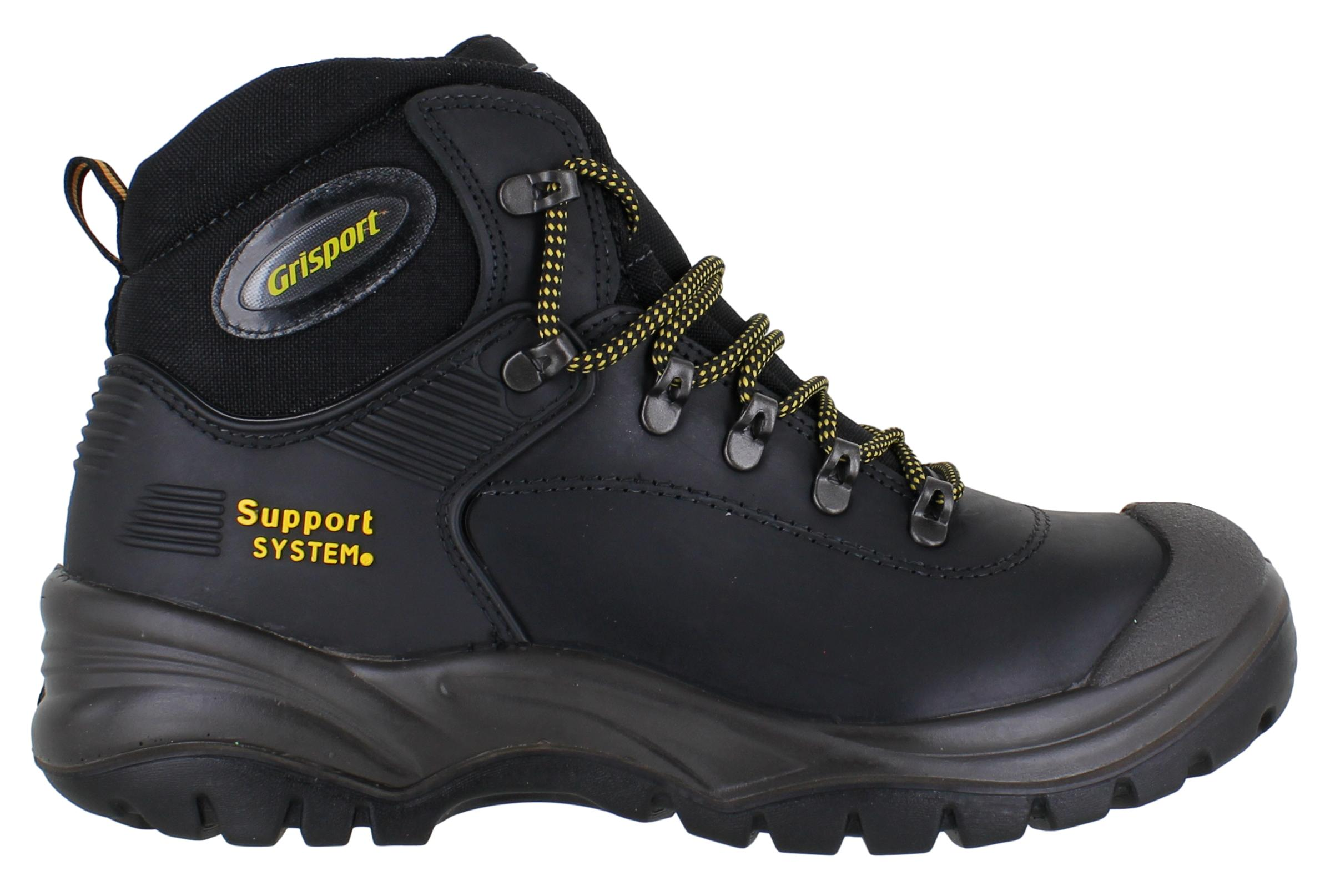GriSport Contractor Mens Black S3 Safety Steel Toe//Midsole Work Boots