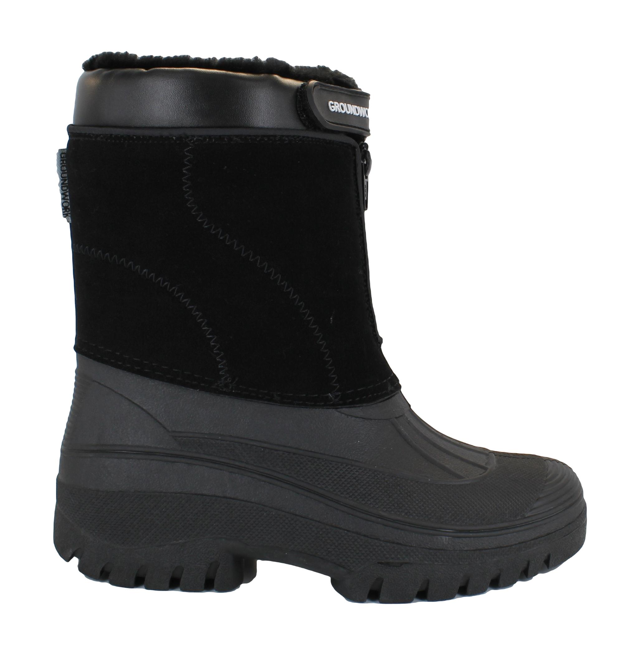 Mens Mucker Stable Yard Waterproof Winter Snow Zip Boots