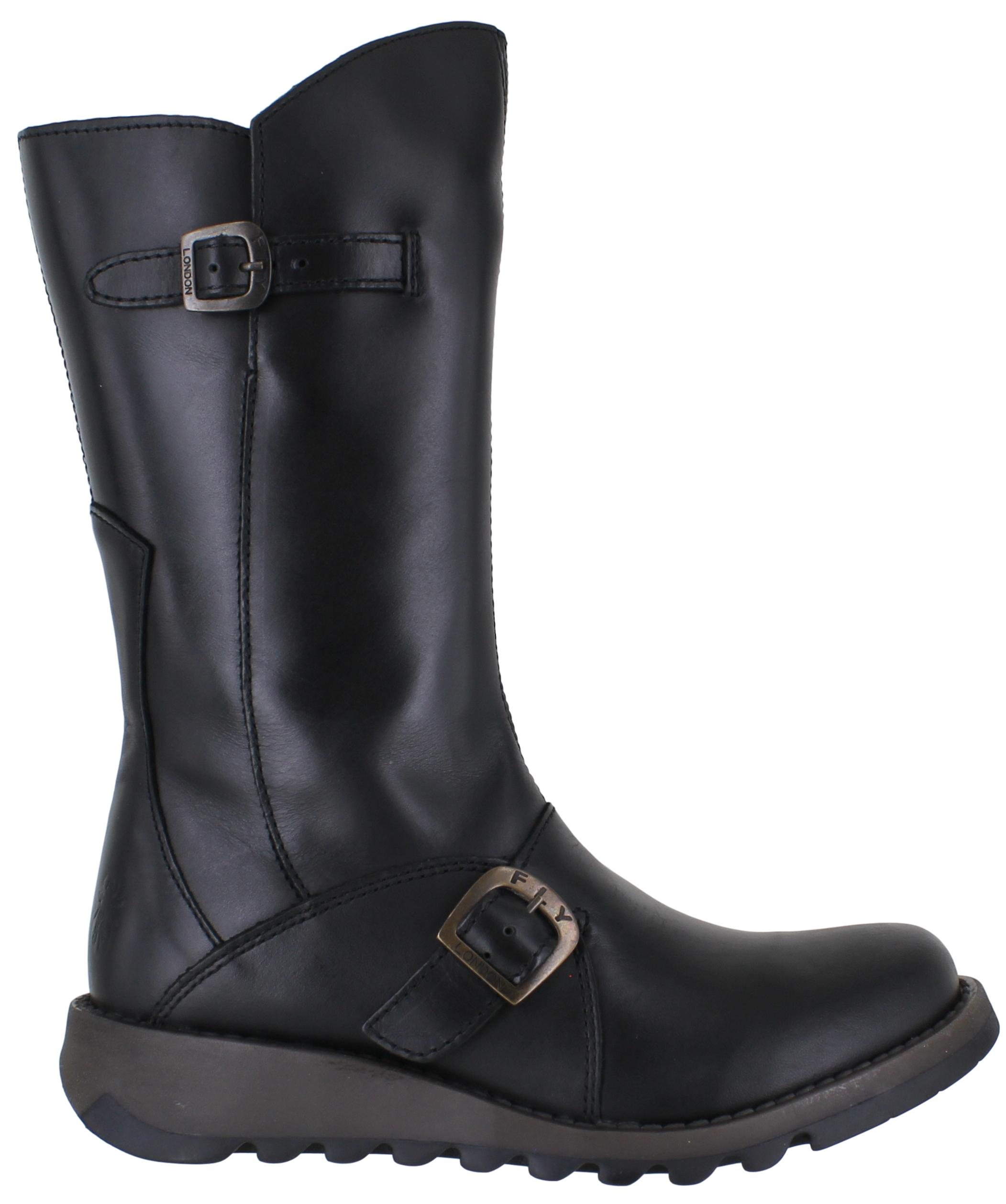 Fly London Mes 2 Womens Black Wedge