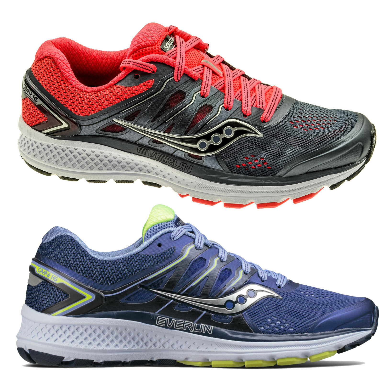 514f1478e Womens Saucony Omni 16 Road Running Shoes Trainers Sizes 4 to 9 - Medium