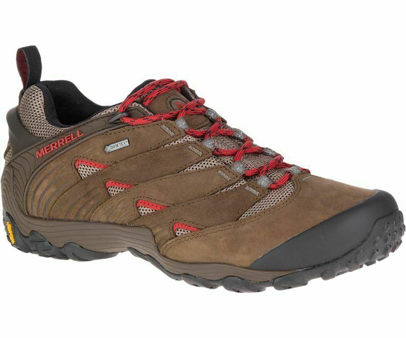 Chaussures randonnée cuir cham 7 goretex gris Merrell   La