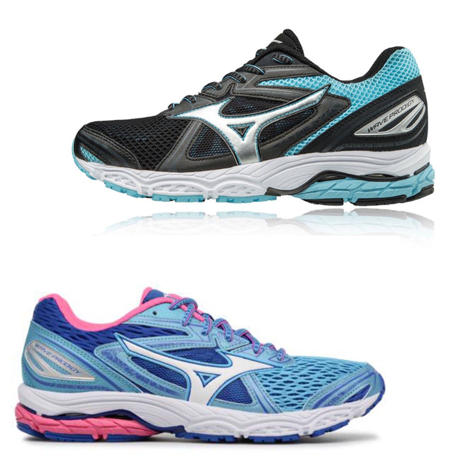 880e57e30cff Details about Womens Mizuno Wave Prodigy Runnig Shoes Trainers Sizes 4 to  7.5 - Medium