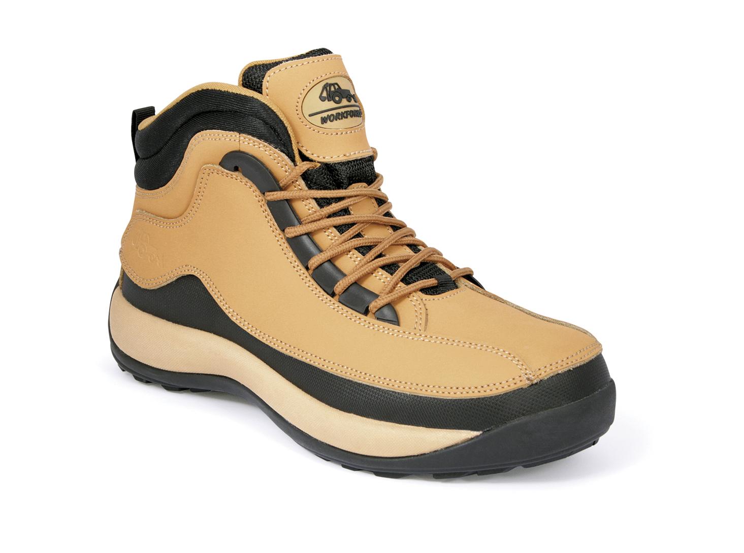 Homme Léger en Acier Orteil Casquette Cheville Chaussures De Sécurité Bottes Baskets Randonneurs Taille UK