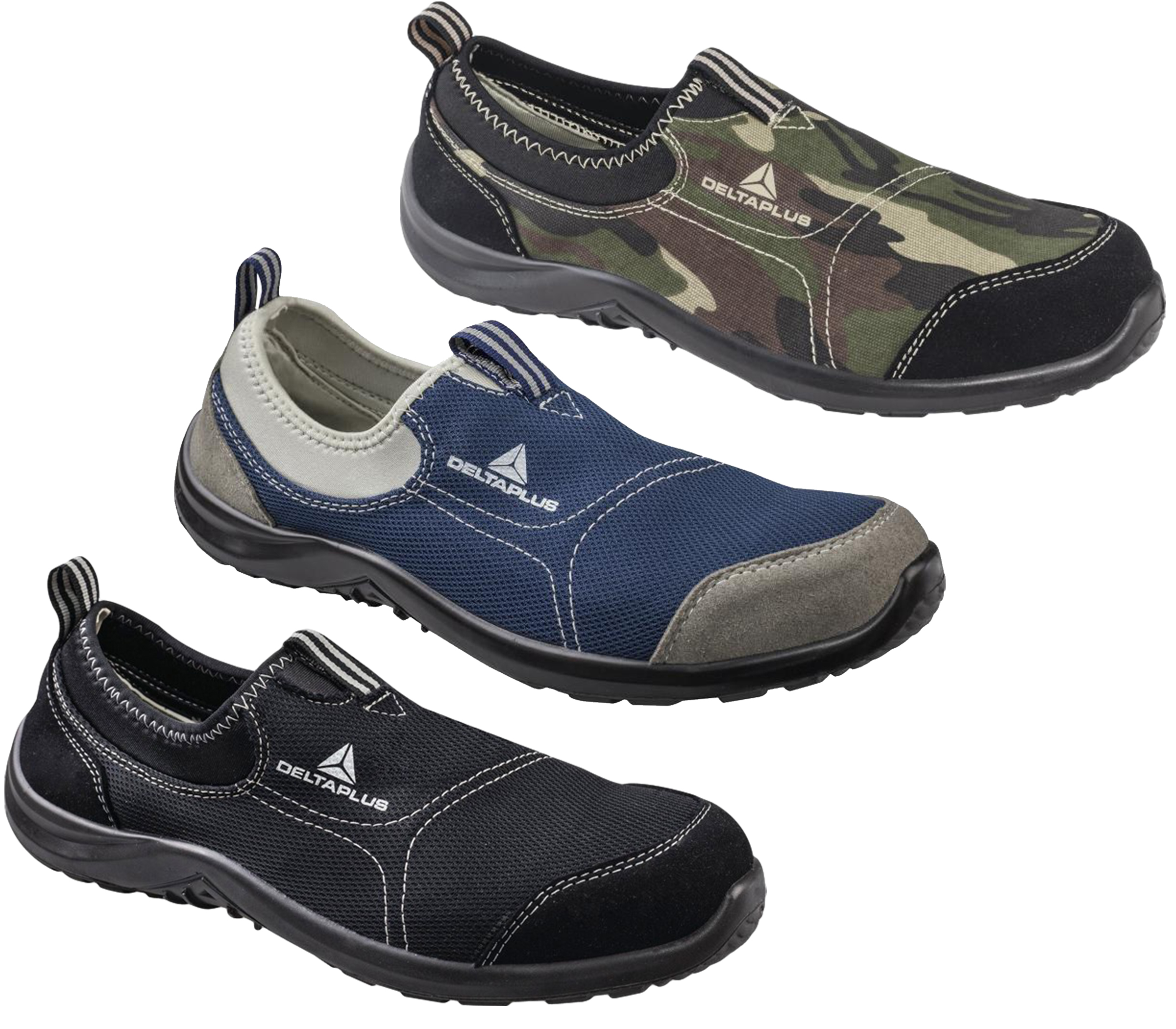 Mens/Womens Delta Plus Miami Slip On Canvas Safety Steel Toe Shoes Sizes 3 To 11 | EBay