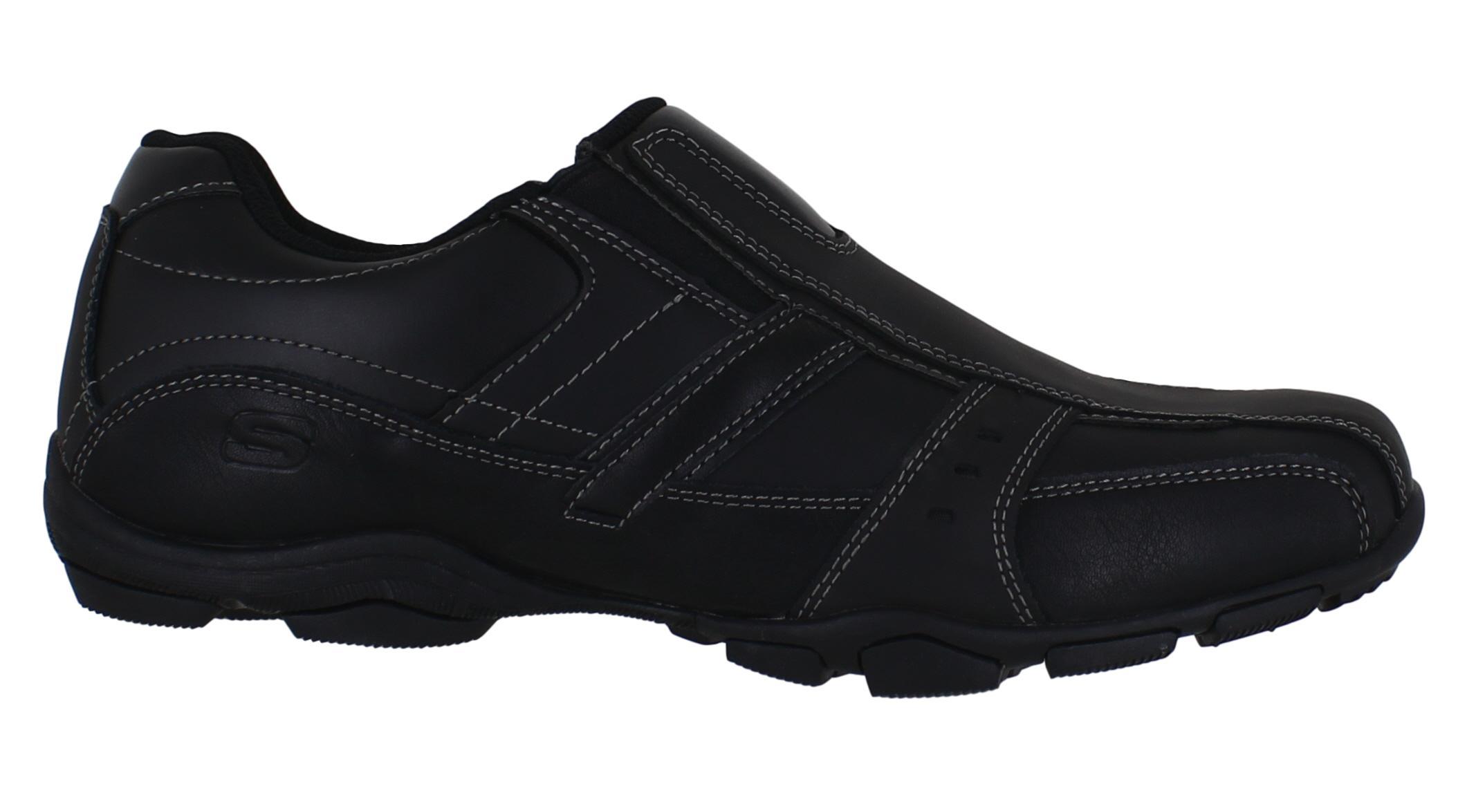 Mens Skechers Marter Kool Digz Casual Smart Leather Slip