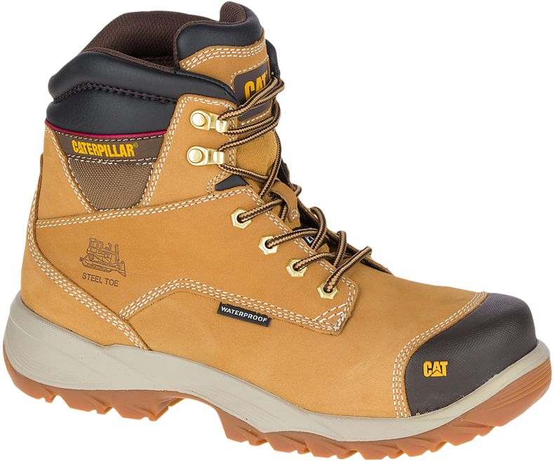 Caterpillar Bearing Mens Black Steel Toe Midsole S3 WR Safety Work Boots
