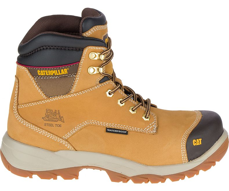 Caterpillar Bearing Mens Honey Steel Toe Midsole S3 WR Safety Work Boots