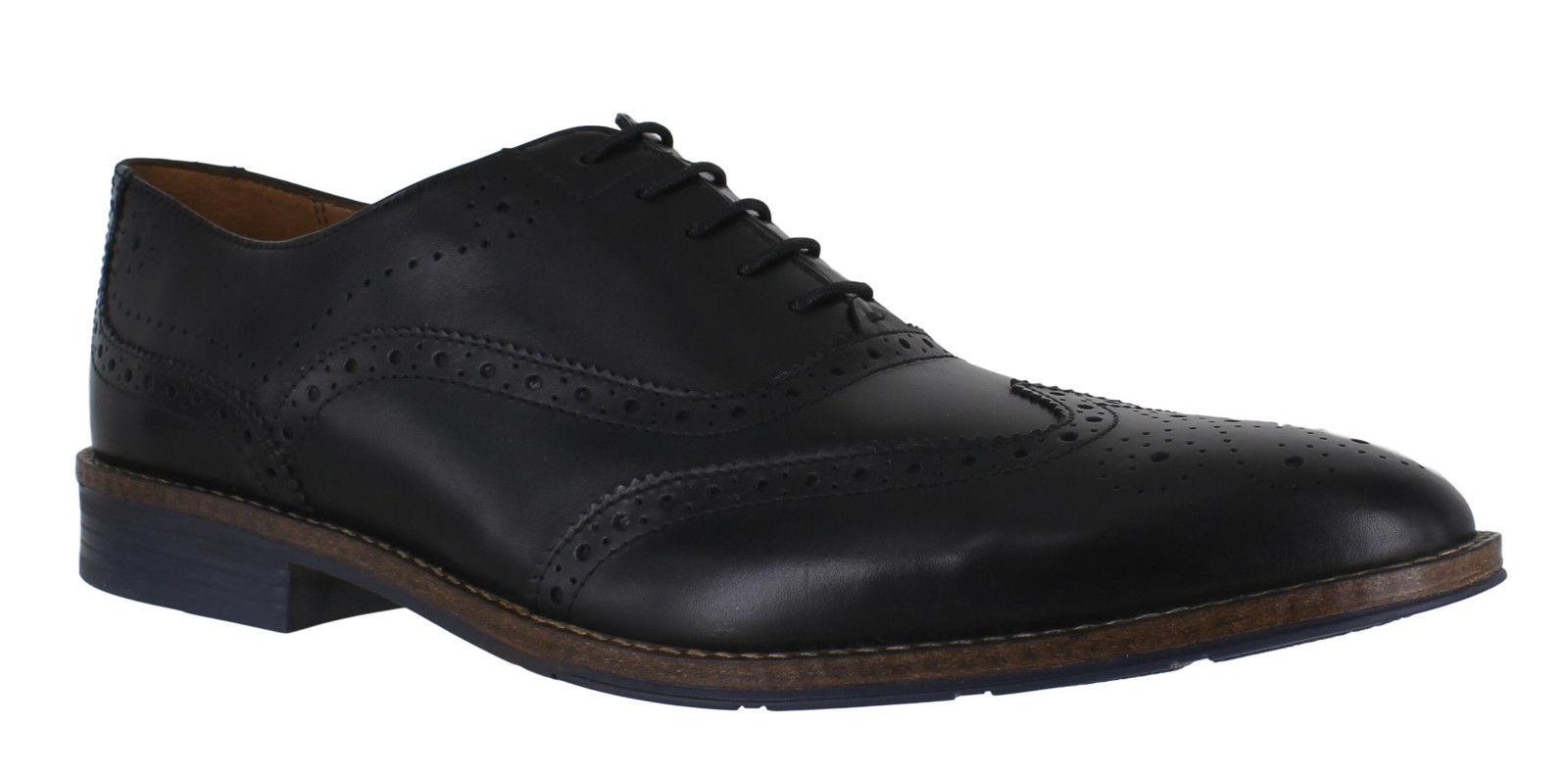 Hush Puppies Eddie Bronson, Zapatos de Cordones Brogue para Hombre, Negro (Black), 41 EU
