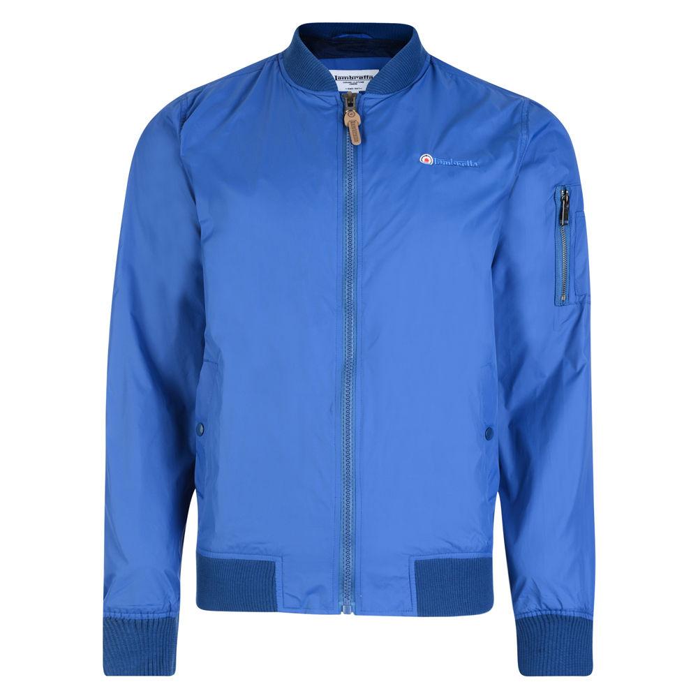 124aea8f Details about Lambretta Mens Classic Royal Blue Lightweight MA1 Bomber MOD  SKA Jacket Coat