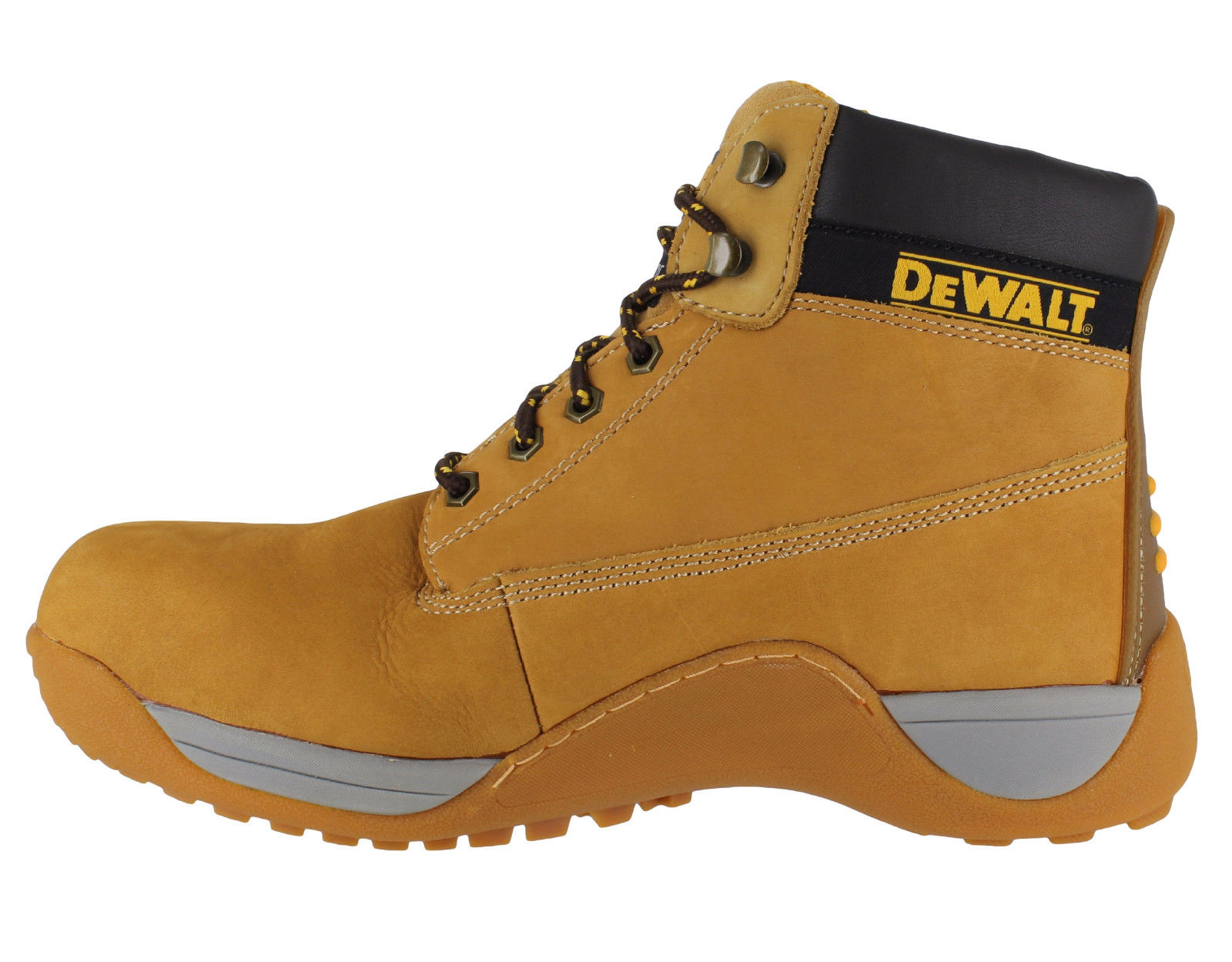 f838b9f3034 Details about Mens DeWalt Apprentice Leather SB Safety Steel Toe Lace Up  Boots Sizes 3 to 13