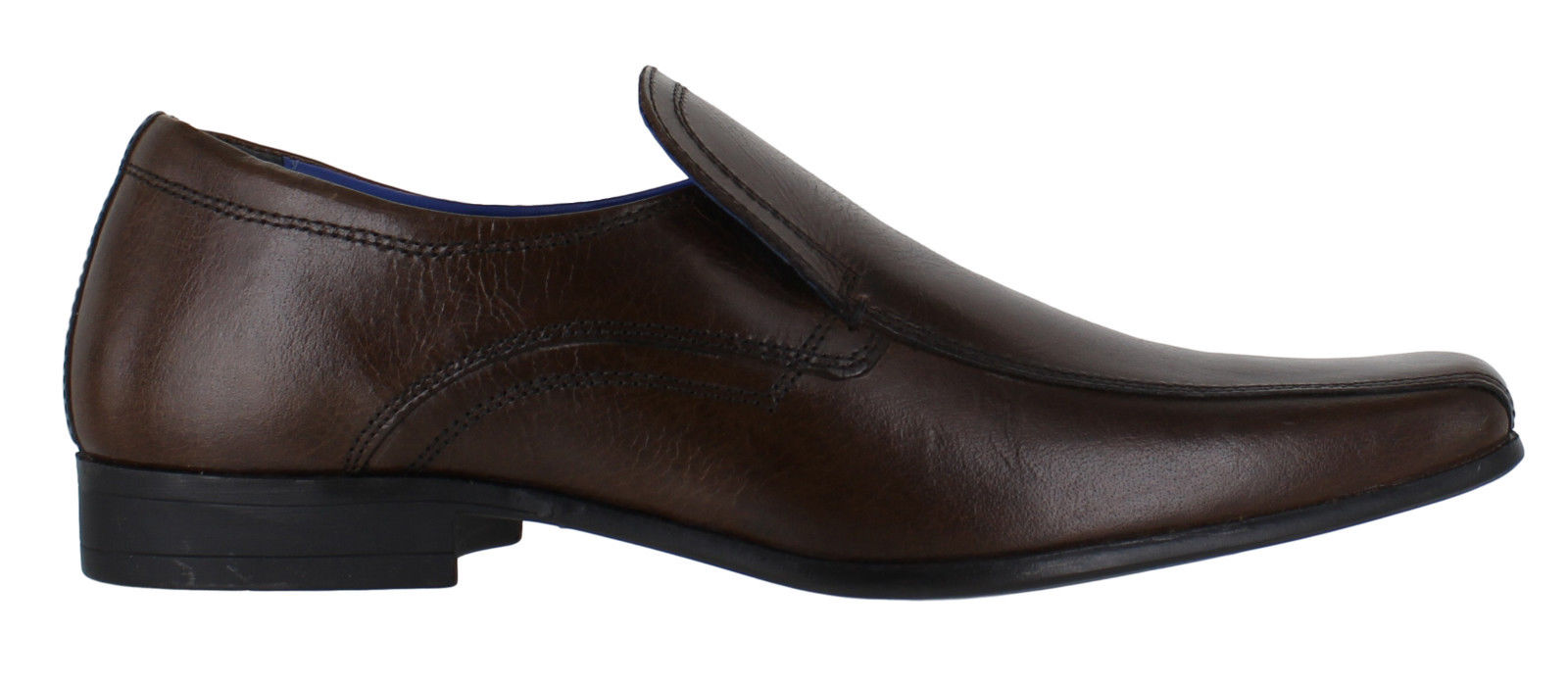 RED TAPE ULSTER MENS LEATHER BROWN  SLIP ON ITALIAN SMART FORMAL SHOES NEW SIZE