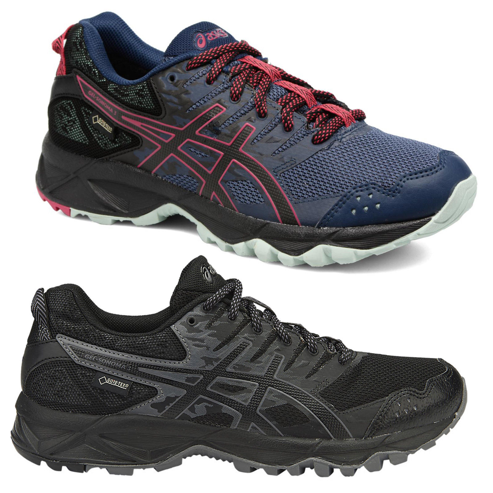 ada1448b0faf Womens Asics Gel-Sonoma 3 Gore-Tex Trail Running Shoes Sizes 4.5 to ...