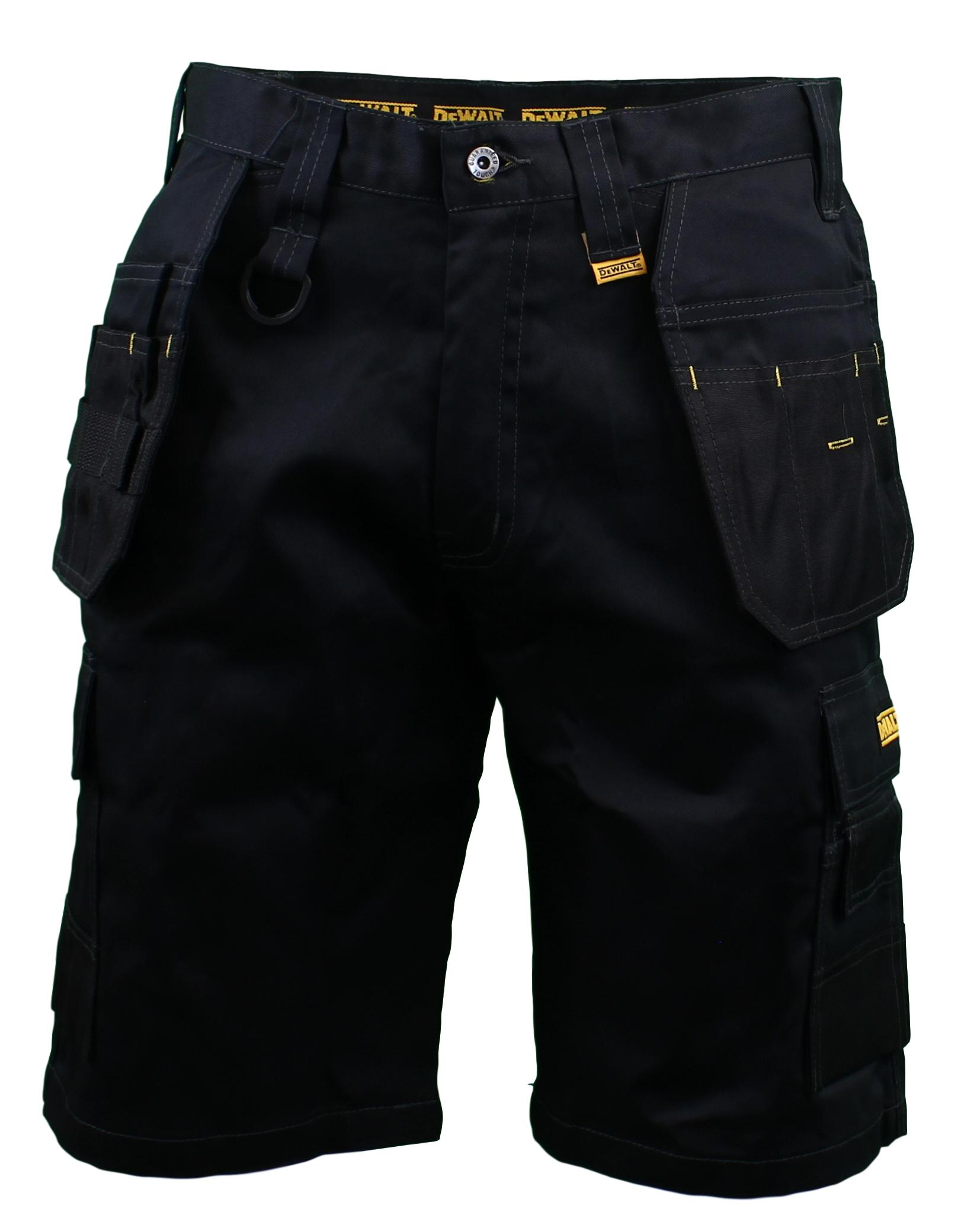 Clearance sale incredible prices full range of specifications Details about DeWalt Mens Black Utilty Pocket Cargo Work Shorts