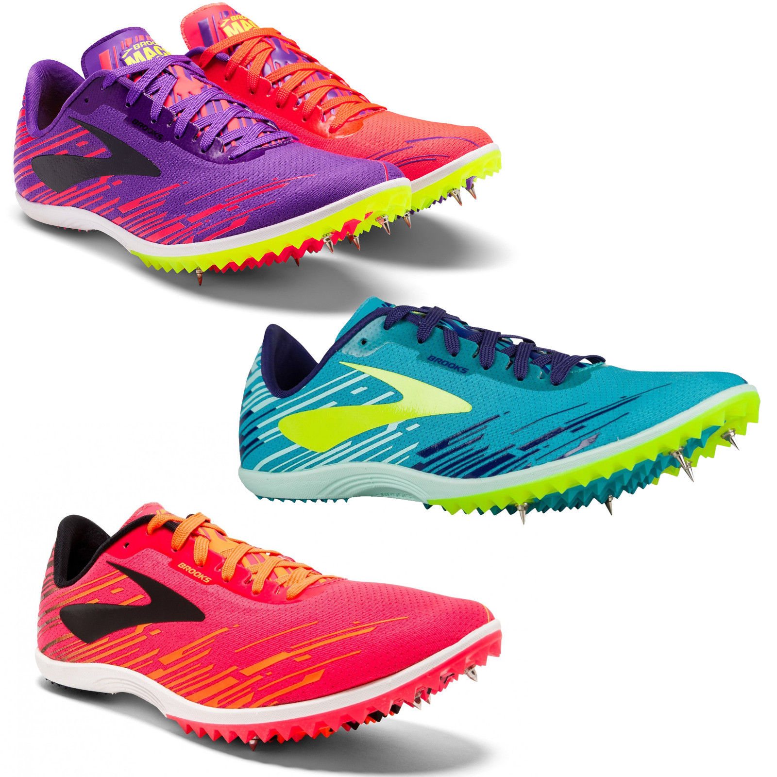 b85c2368493df Details about Womens Brooks Mach 18 Spike Running Shoes Trainers Sizes 4 to  8 - Medium