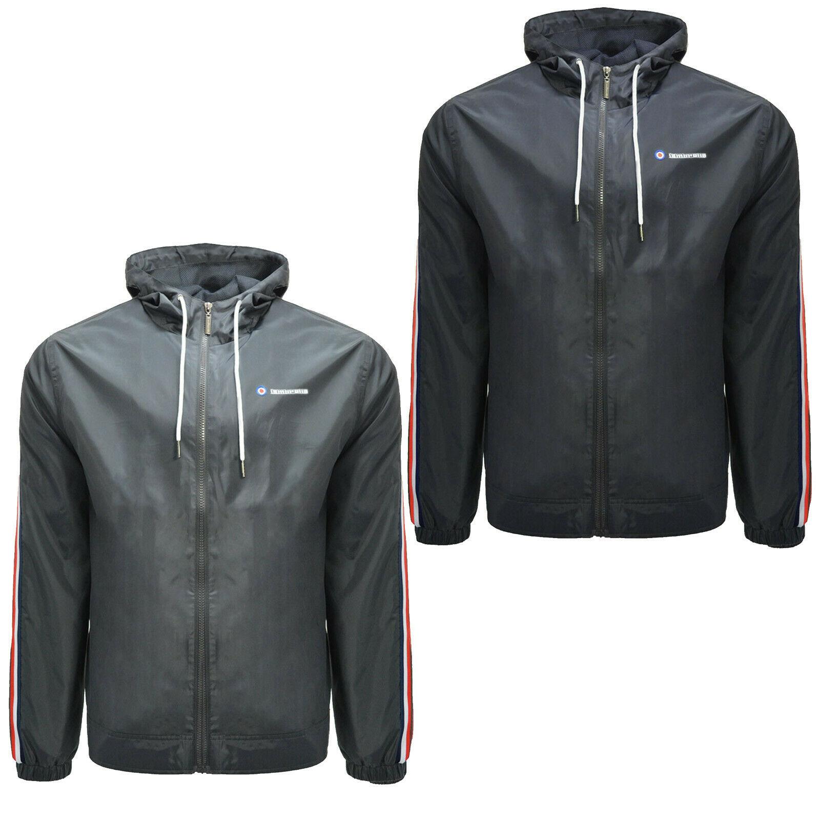 Mens Lambretta Tracksuit Top Jacket Zip Up Retro Jacket Coat Sizes M to 4XL