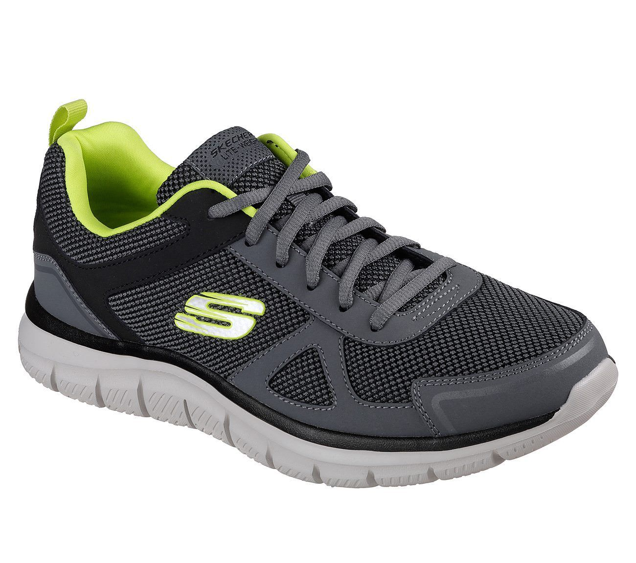 Generate Black Mens Lace up Sports Trainers New Skechers Go