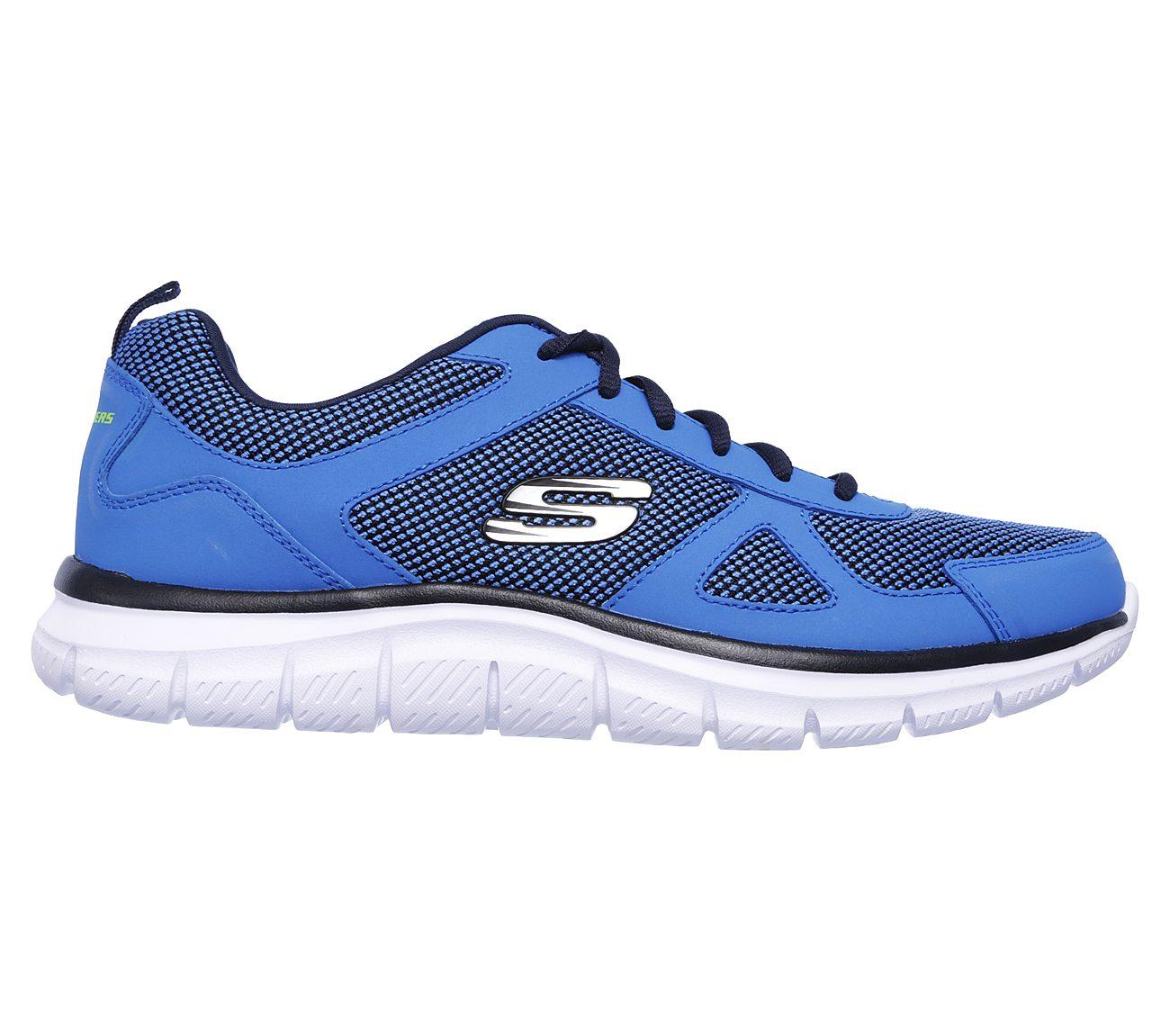 Details about Skechers Track Bucolo Mens Blue Lace Up Gym Memory Foam Sport show original title