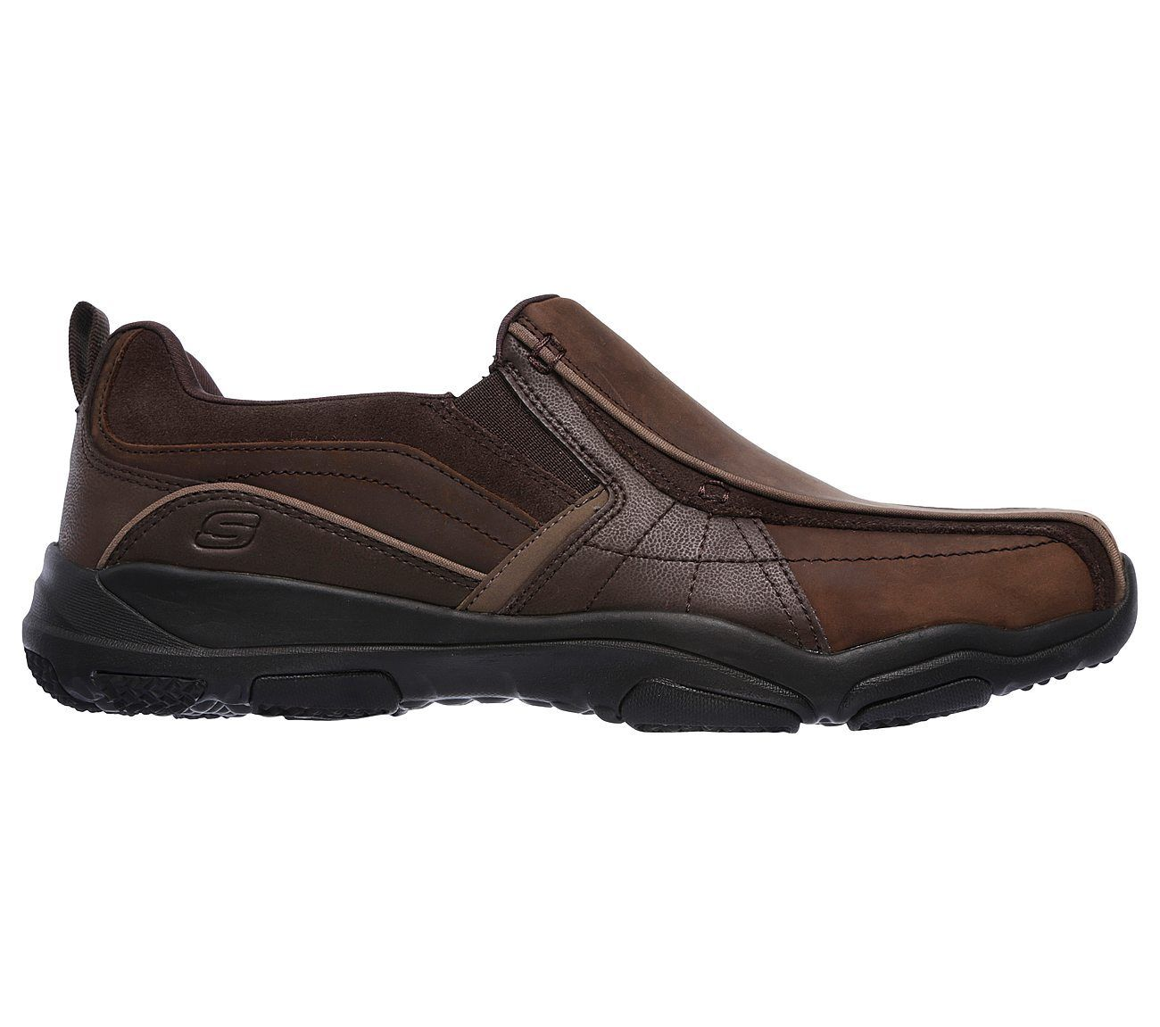 Skechers Relaxed Fit Memory Foam Shoe For Men Brown