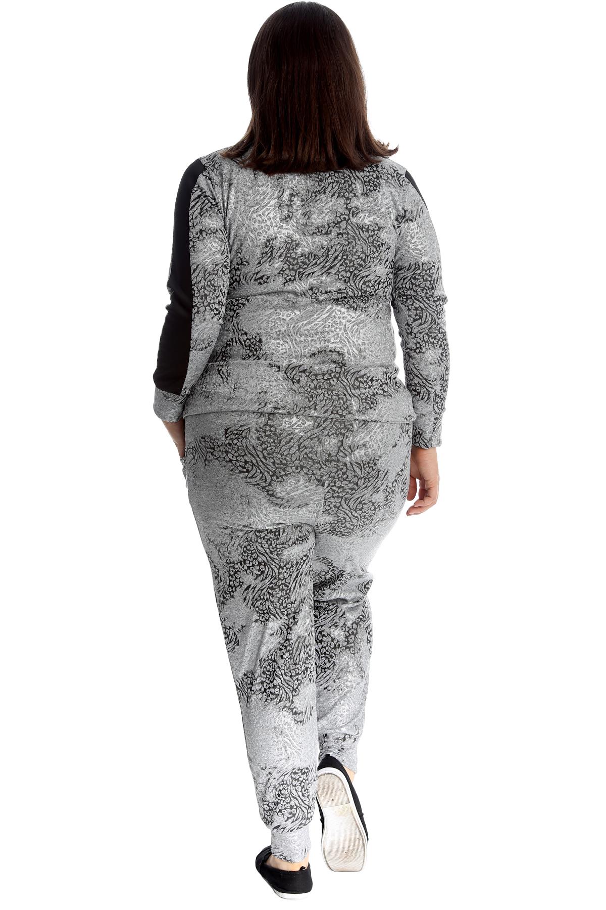 Ladies Women Snake Print Loungewear Tracksuit Full Outwear Jogging Suit