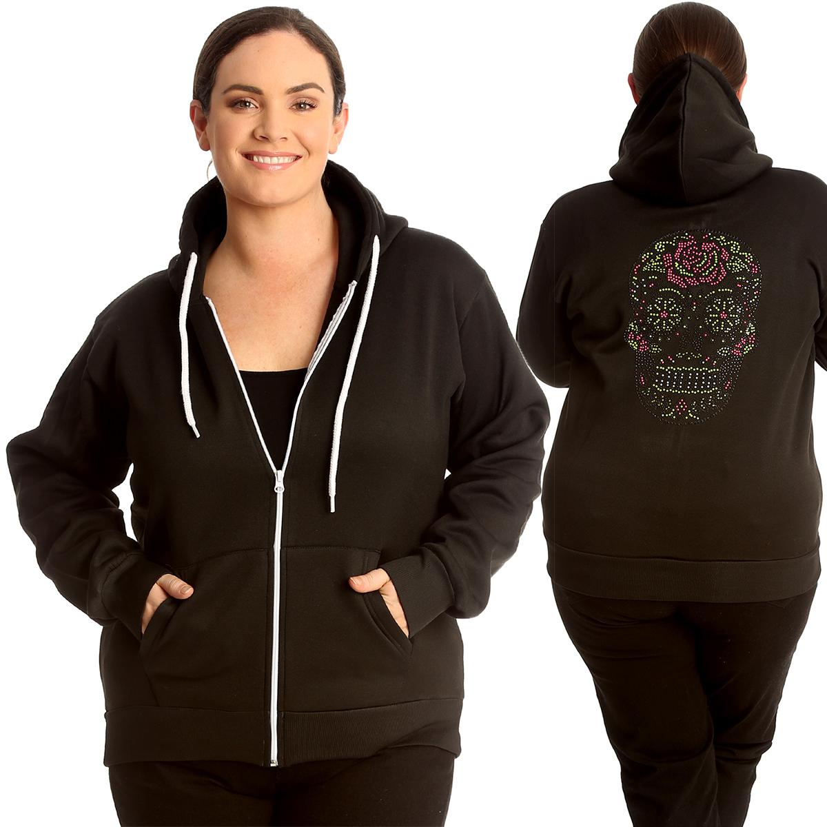 Women Ladies Warm Hoodies Fleece Coat Outerwear Hooded Sweatshirt Top Plus Size