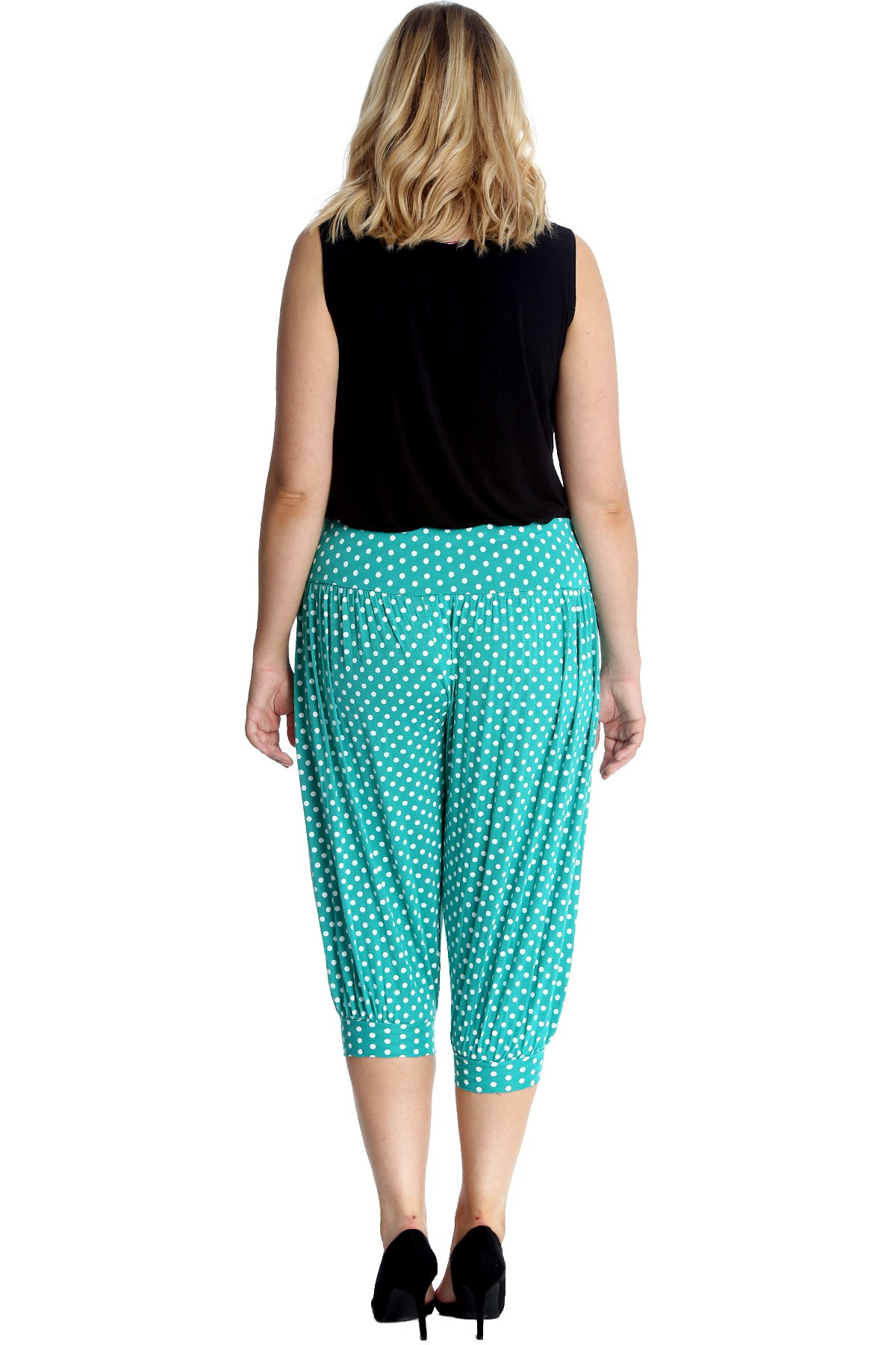 New Ladies Harem Trouser Women Plus Size Flared Ali Baba Moroccan Print Nouvelle