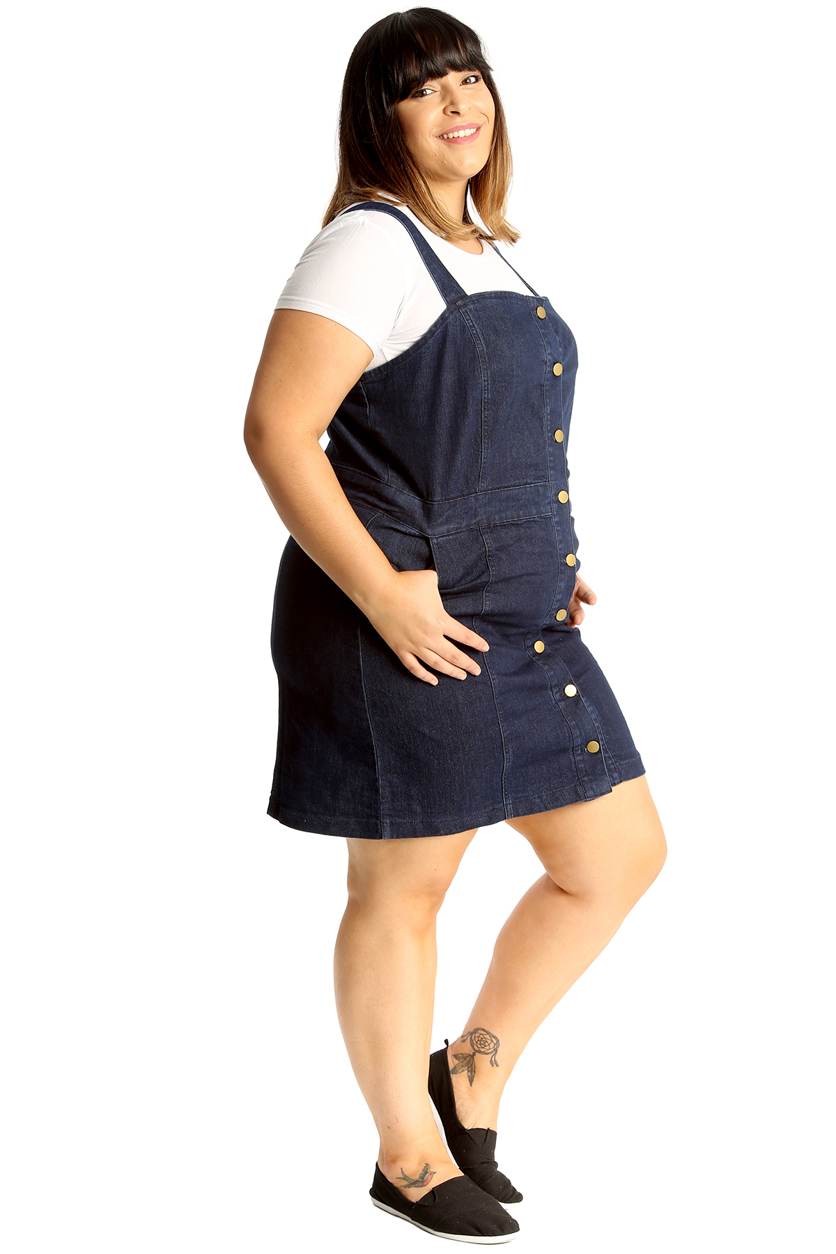 most reliable really cheap top-rated official Details about New Ladies Plus Size Dungaree Dress Womens Jeans Style Pocket  Denim Top Nouvelle