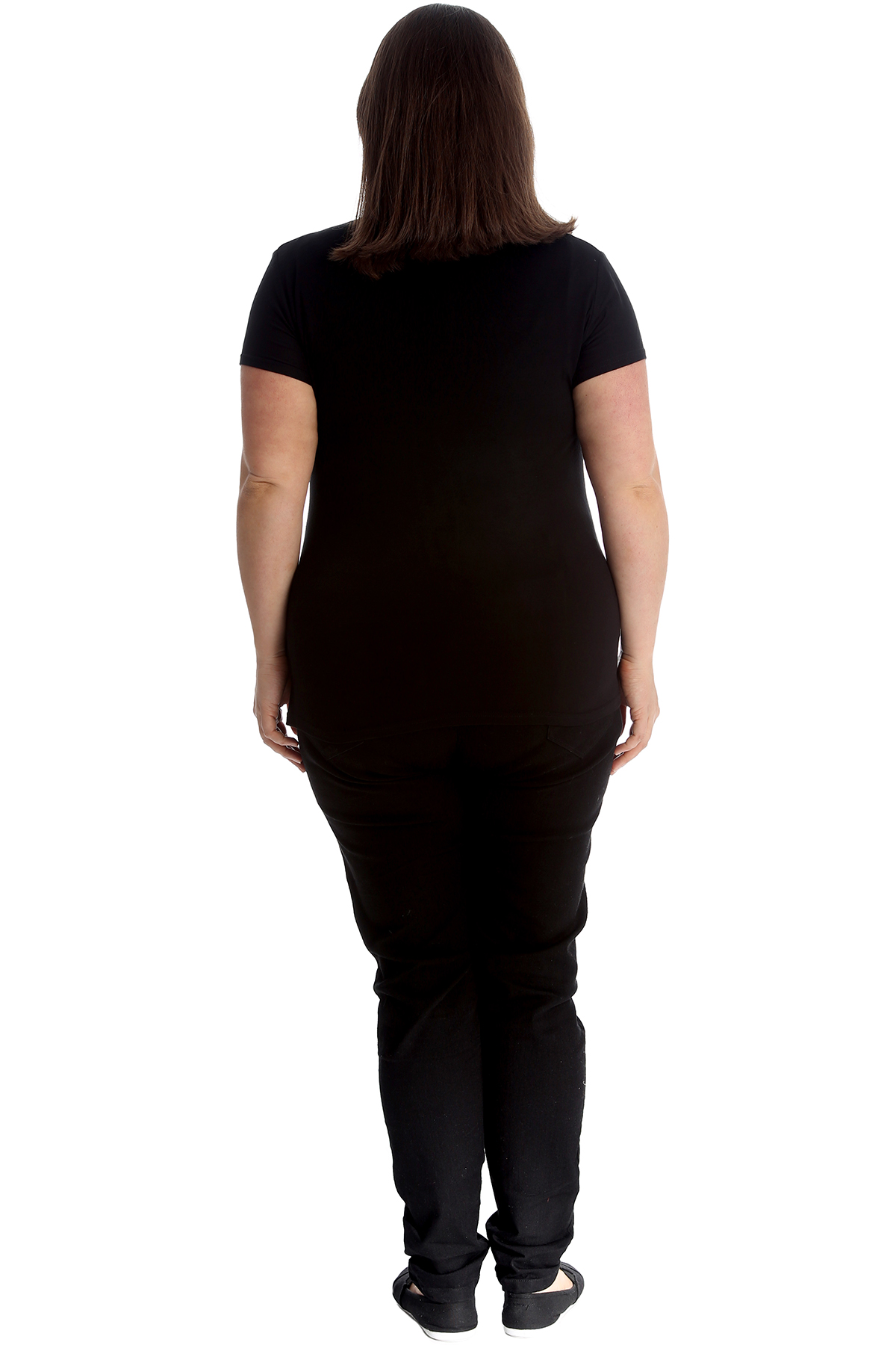 New-Womens-Plus-Size-Top-Ladies-Cherry-Rhinestone-T-Shirt-Soft-Stud-Shiny-Hip thumbnail 10
