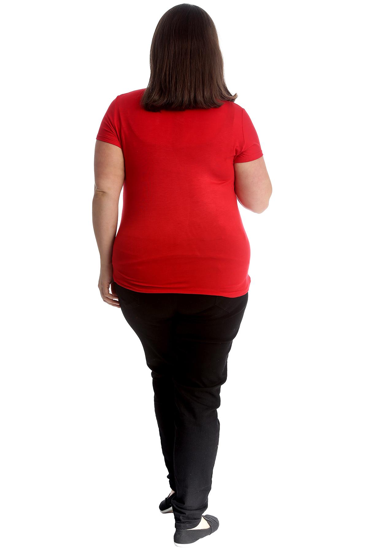 New-Womens-Plus-Size-Top-Ladies-Cherry-Rhinestone-T-Shirt-Soft-Stud-Shiny-Hip thumbnail 14