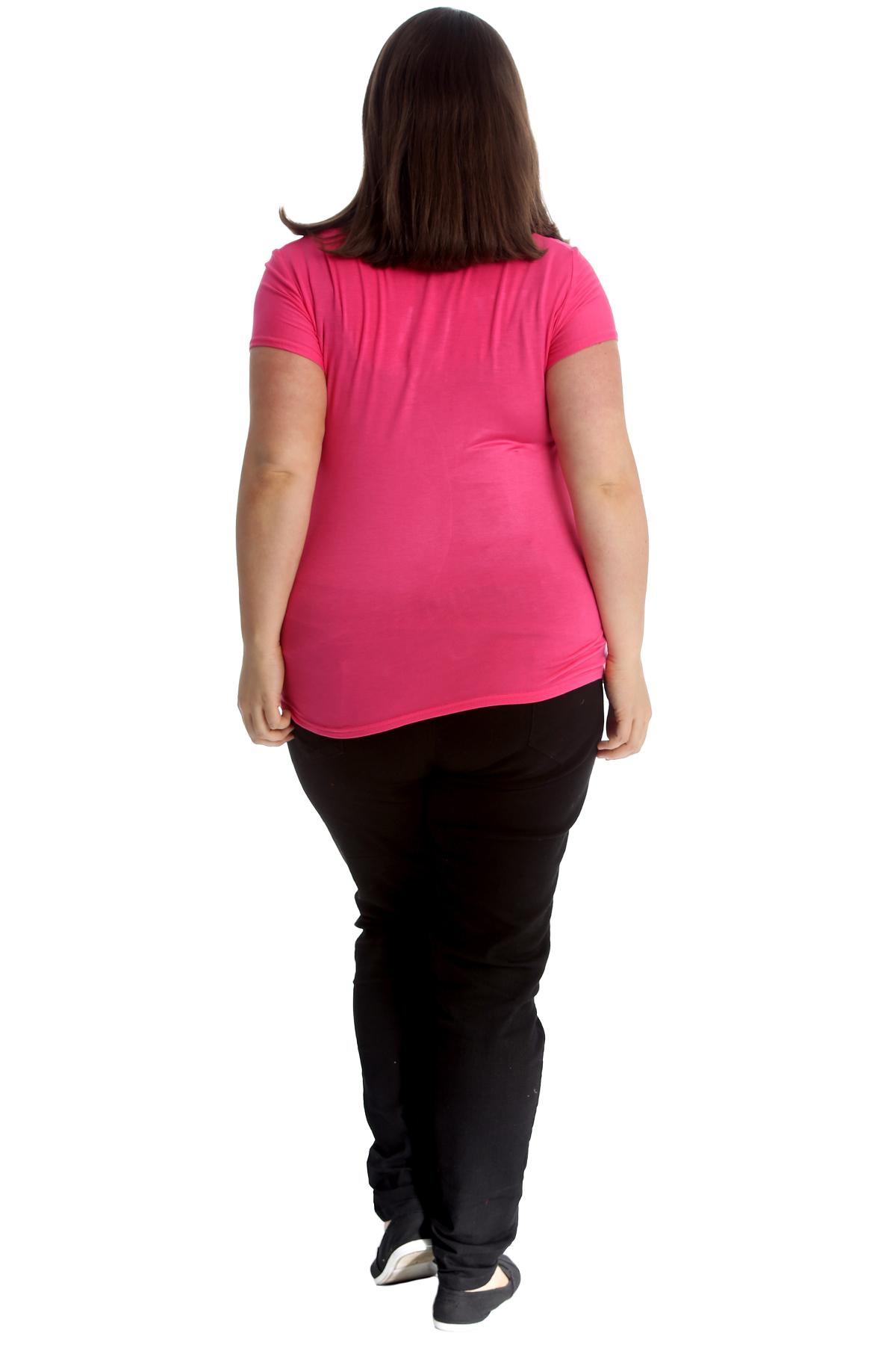 New-Womens-Plus-Size-Top-Ladies-Cherry-Rhinestone-T-Shirt-Soft-Stud-Shiny-Hip thumbnail 22