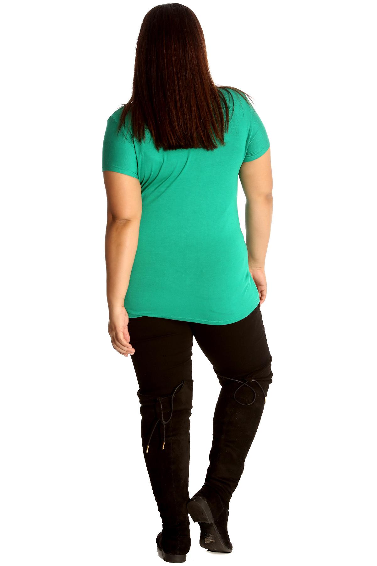 New Women Plus Size Top Ladies T Shirt Mistletoe Christmas