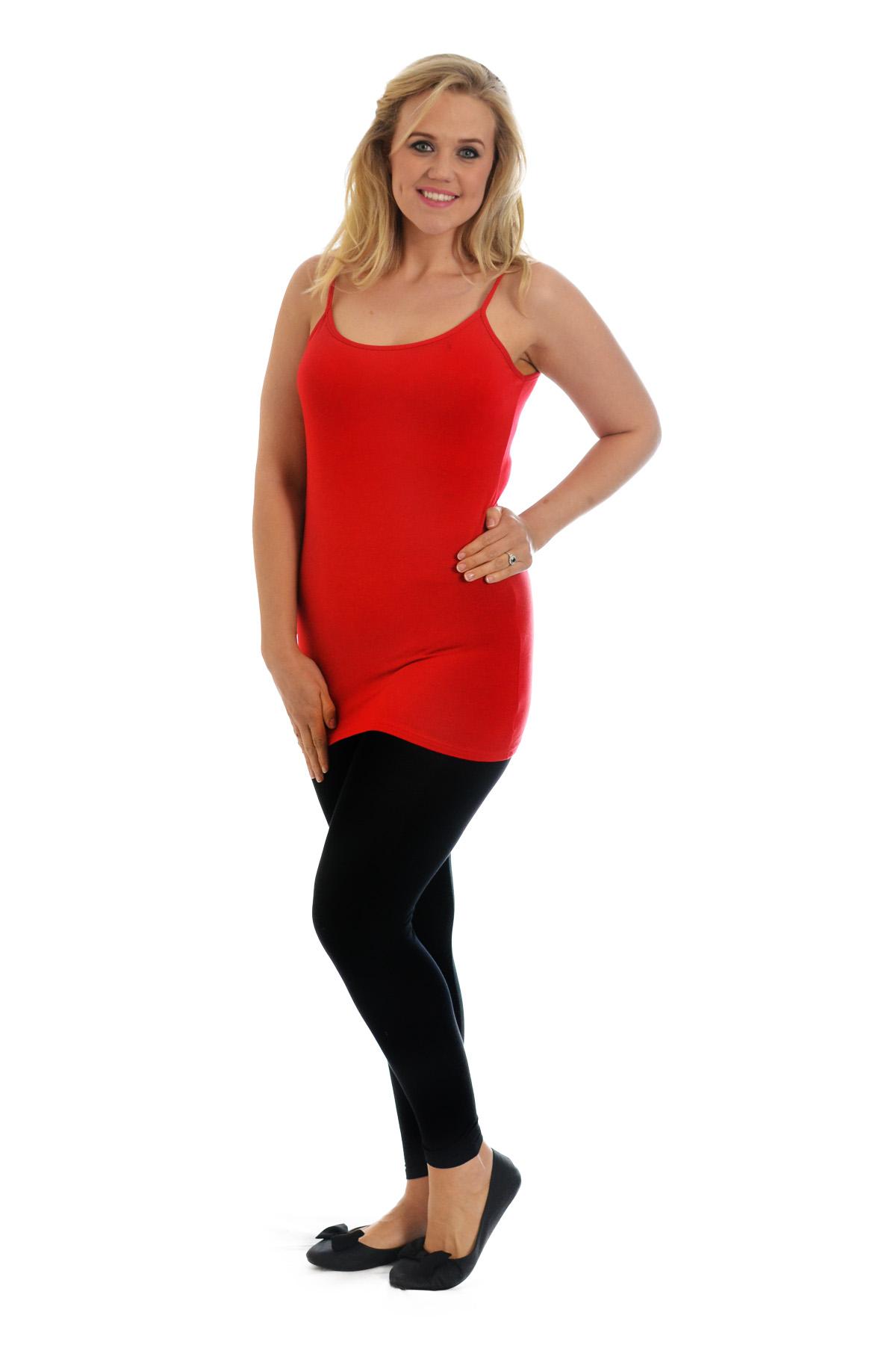 Womens-New-Vest-Plus-Size-Ladies-Strap-Tank-Top-Plain-Cami-Stretch-Long-Nouvelle