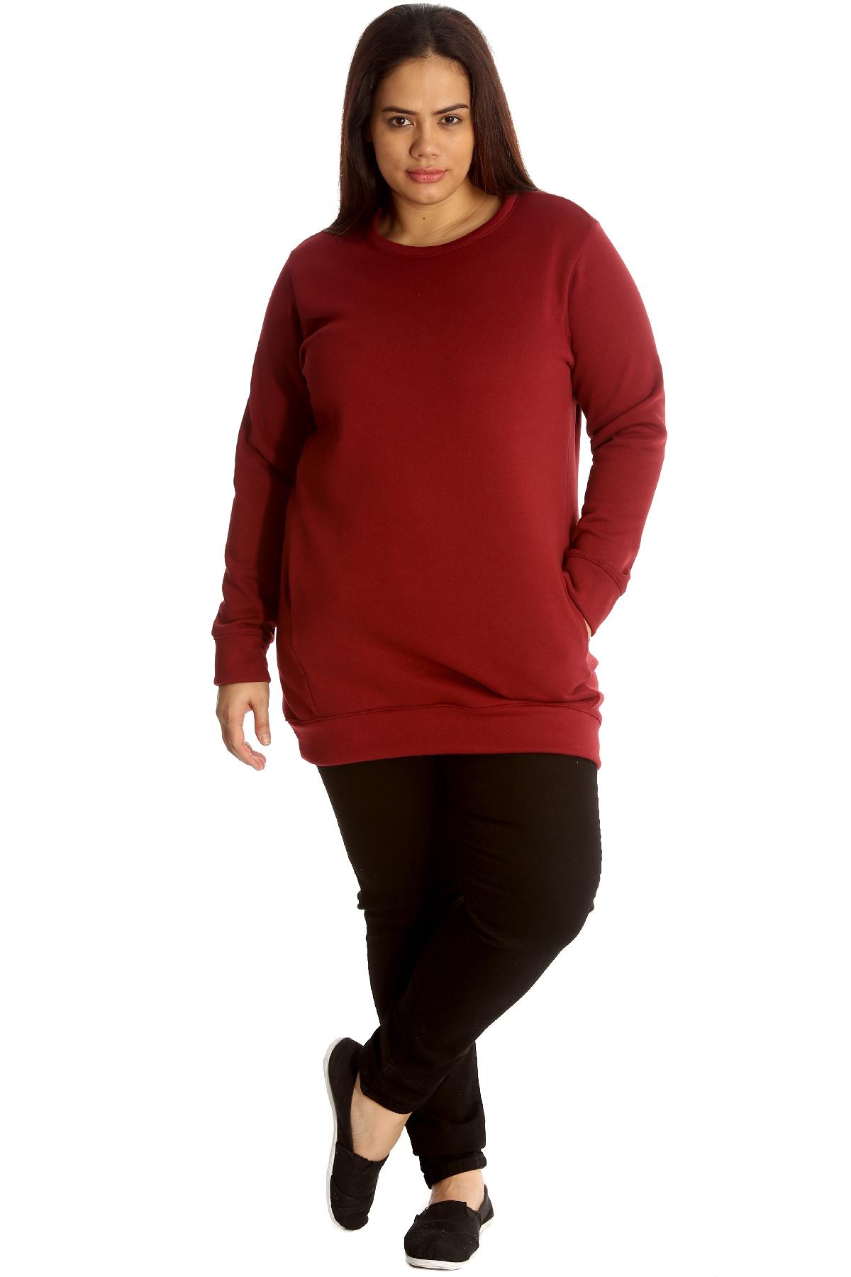 New Womens Plus Size Sweatshirt Ladies Long Cardigan Style Warm ...