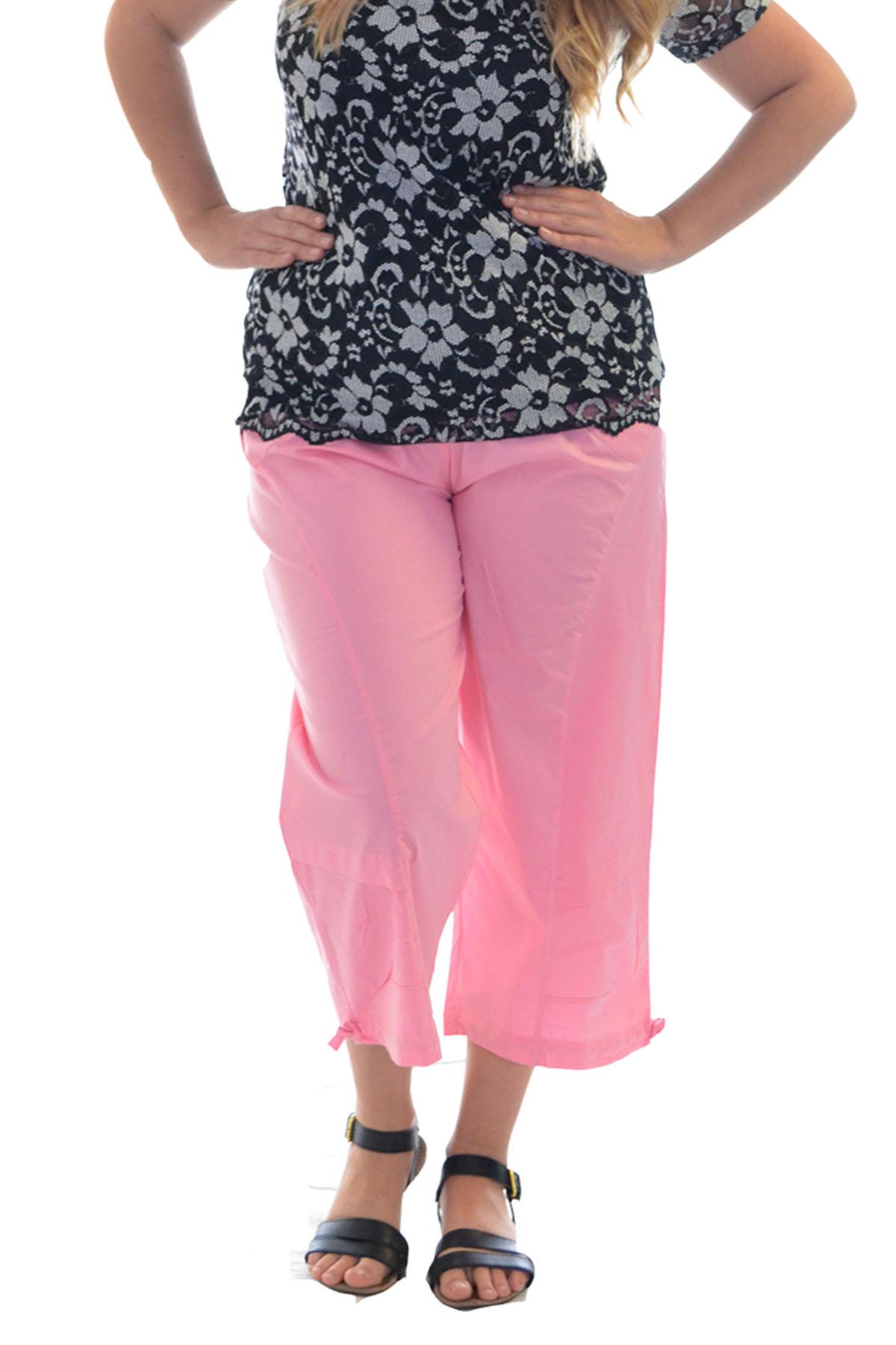 femmes tondu un pantalon coton lastique corsaire pantalon t plus de taille ebay. Black Bedroom Furniture Sets. Home Design Ideas