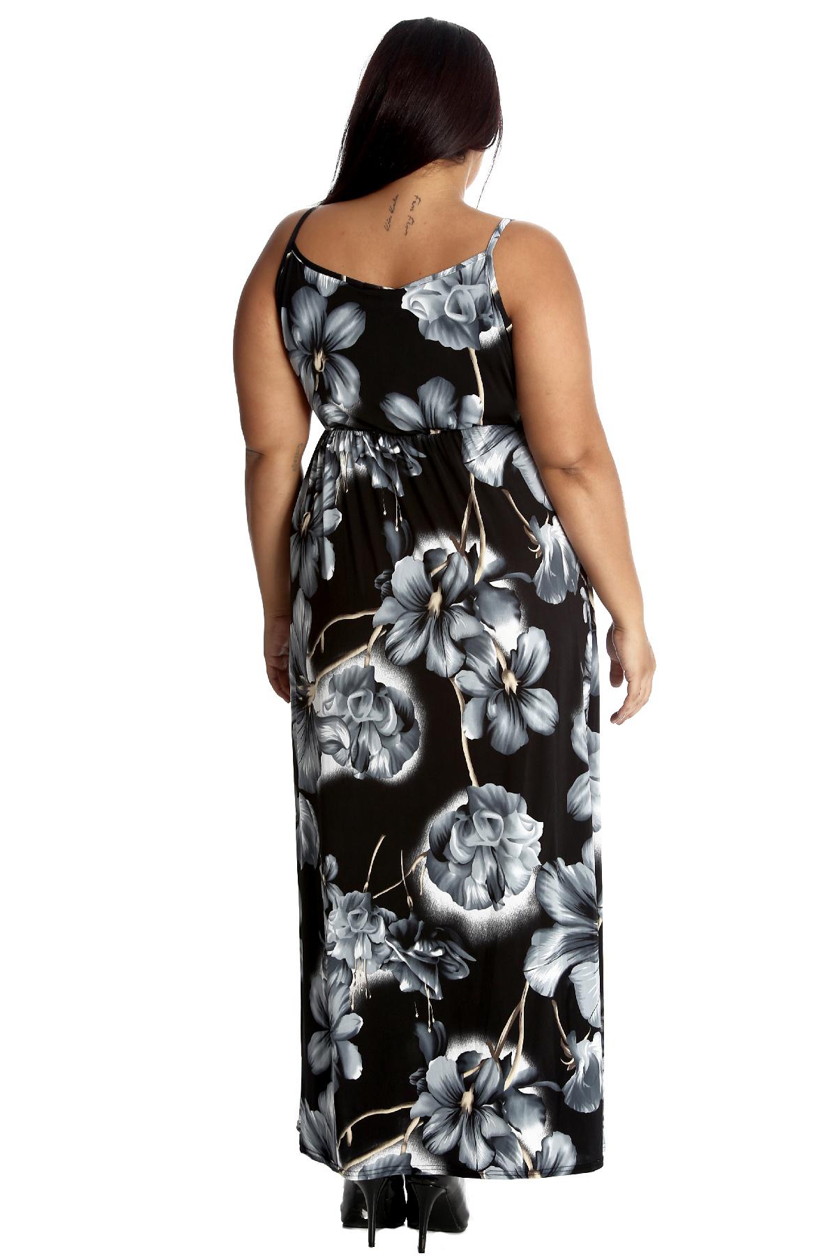 89740fb954ad New Ladies Plus Size Maxi Dress Womens Tank Top Style Sleeveless ...