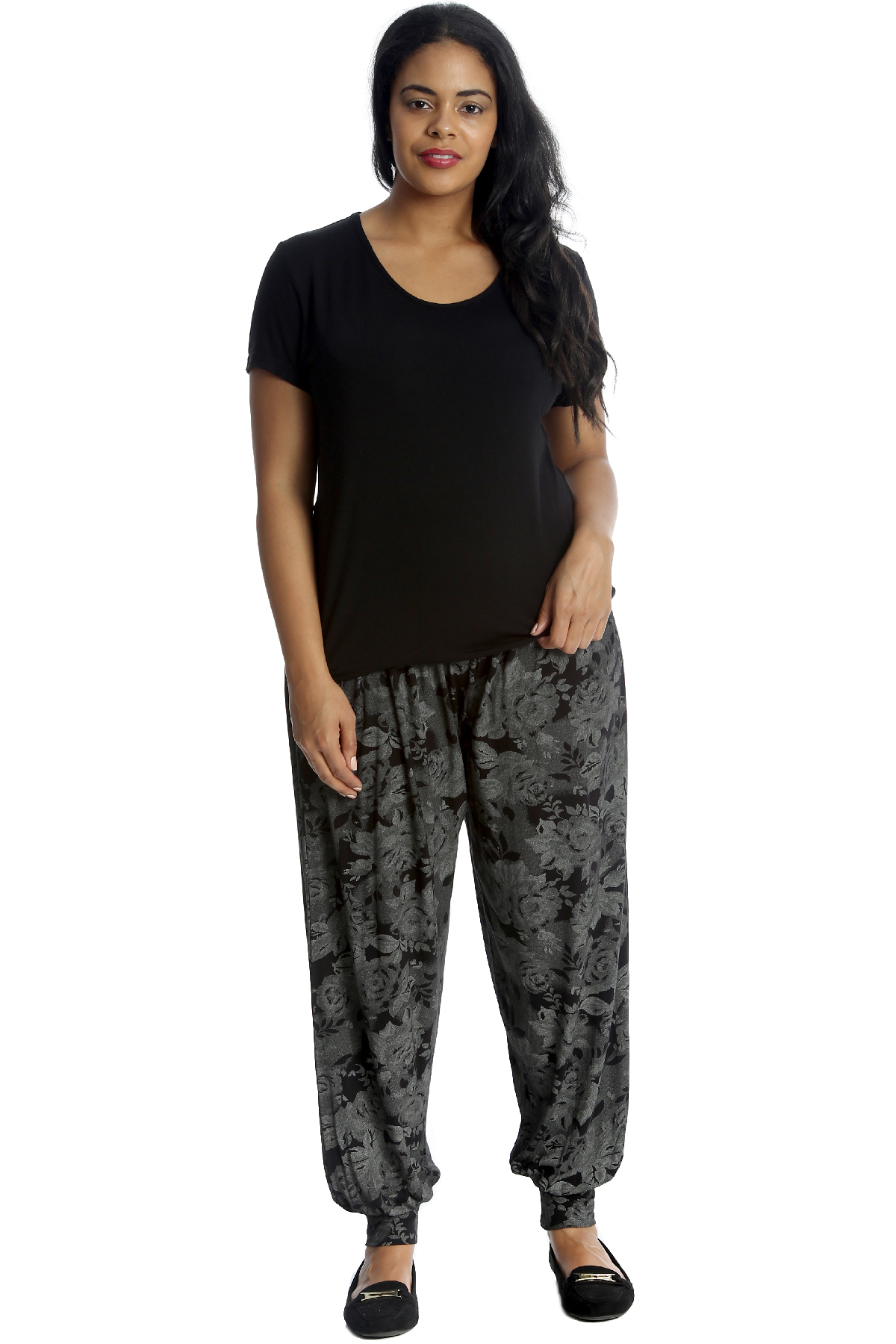 New-Womens-Plus-Size-Trousers-Ladies-Harem-Pants-Ali-Baba-Floral-Print-Tie-Dye
