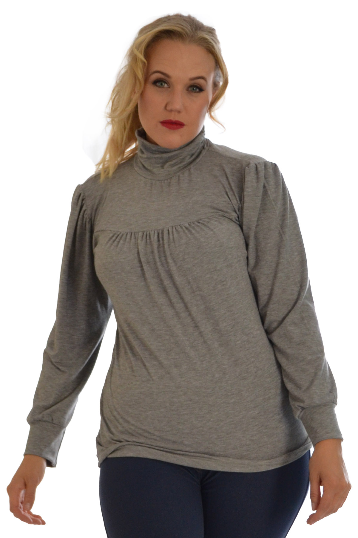 New ladies plus size top womens polo neck high elasticated for Plus size polo shirts ladies