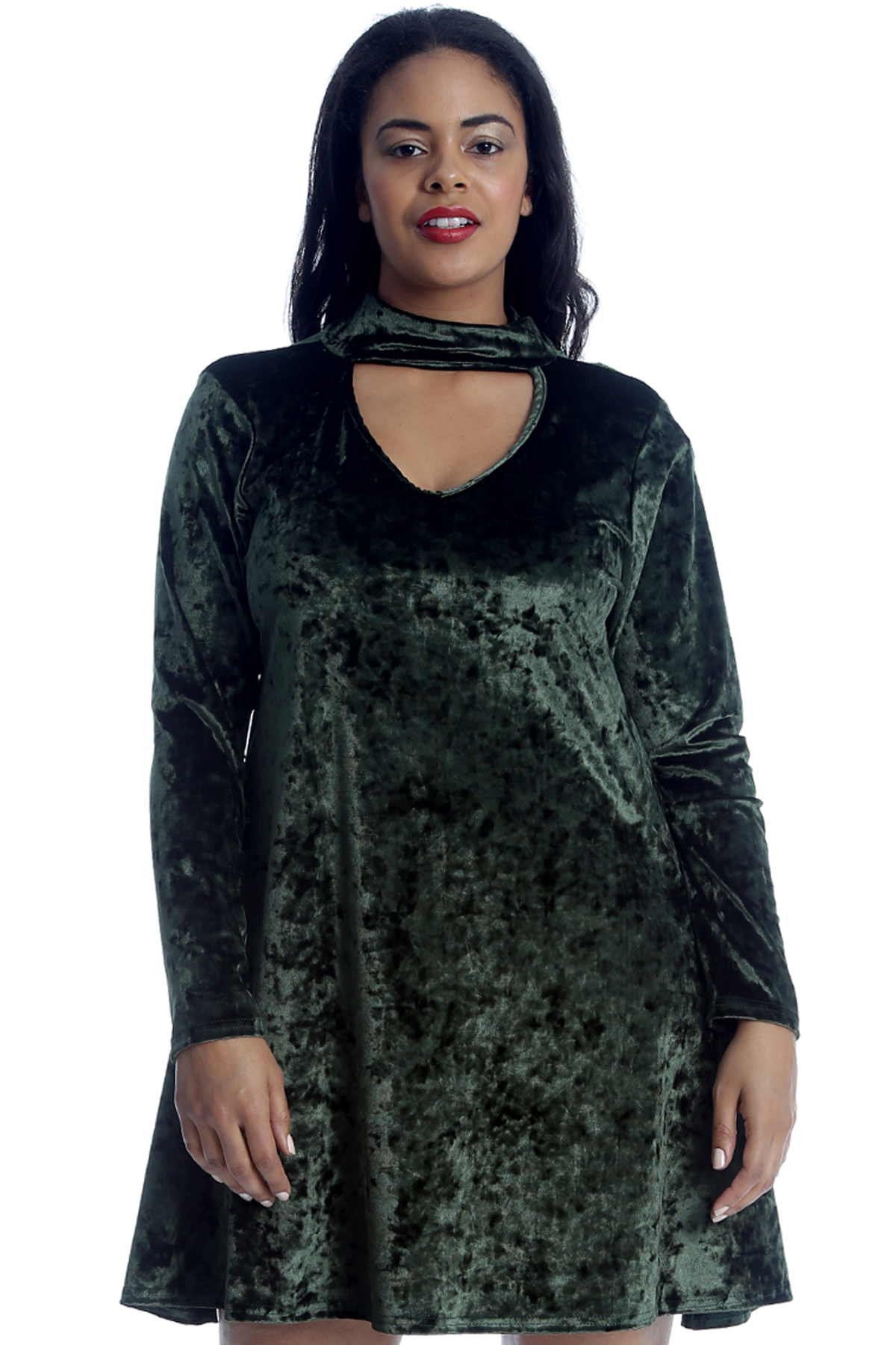 New-Womens-Plus-Size-Top-Ladies-Velvet-Tunic-Swing-Long-Sleeve-Warm-Shiny-Party