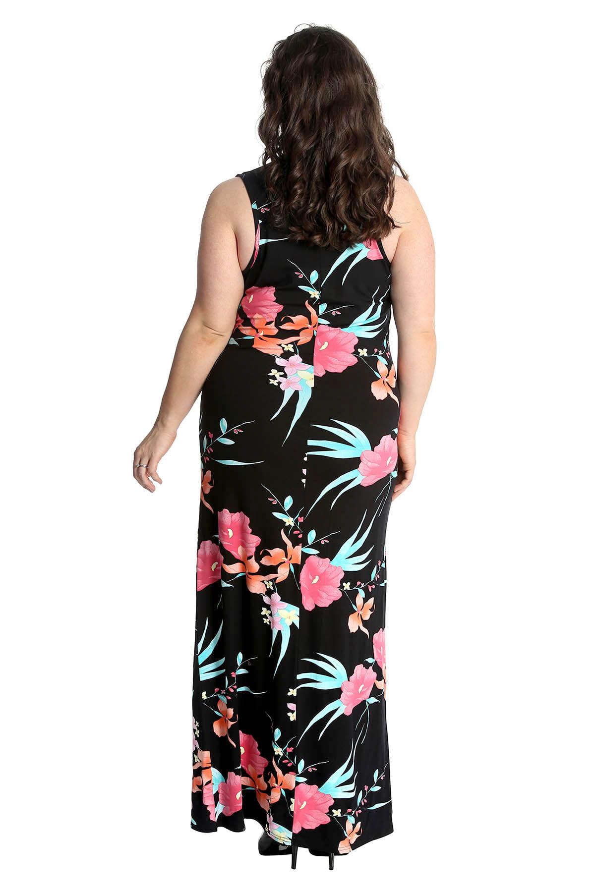New-Womens-Maxi-Dress-Plus-Size-Ladies-Floral-Print-Long-Ankle-Length-Nouvelle