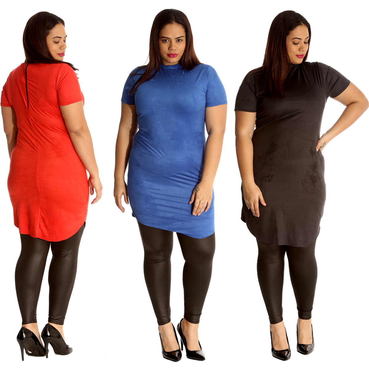Details about New Womens Plus Size Tunic Ladies Suede Top Turtle Polo Neck  Dress Party Soft